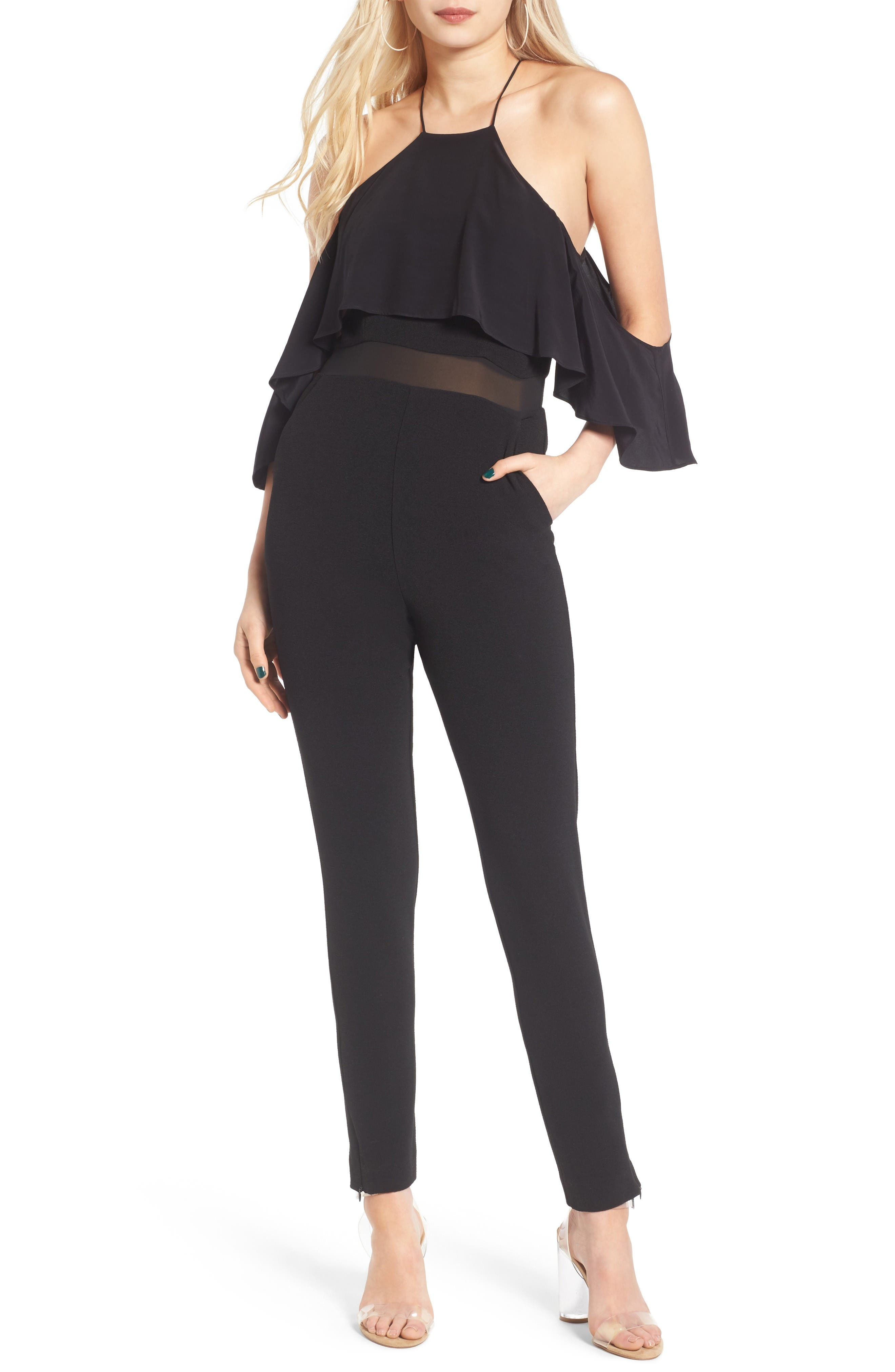 ST. studio Cold Shoulder Jumpsuit