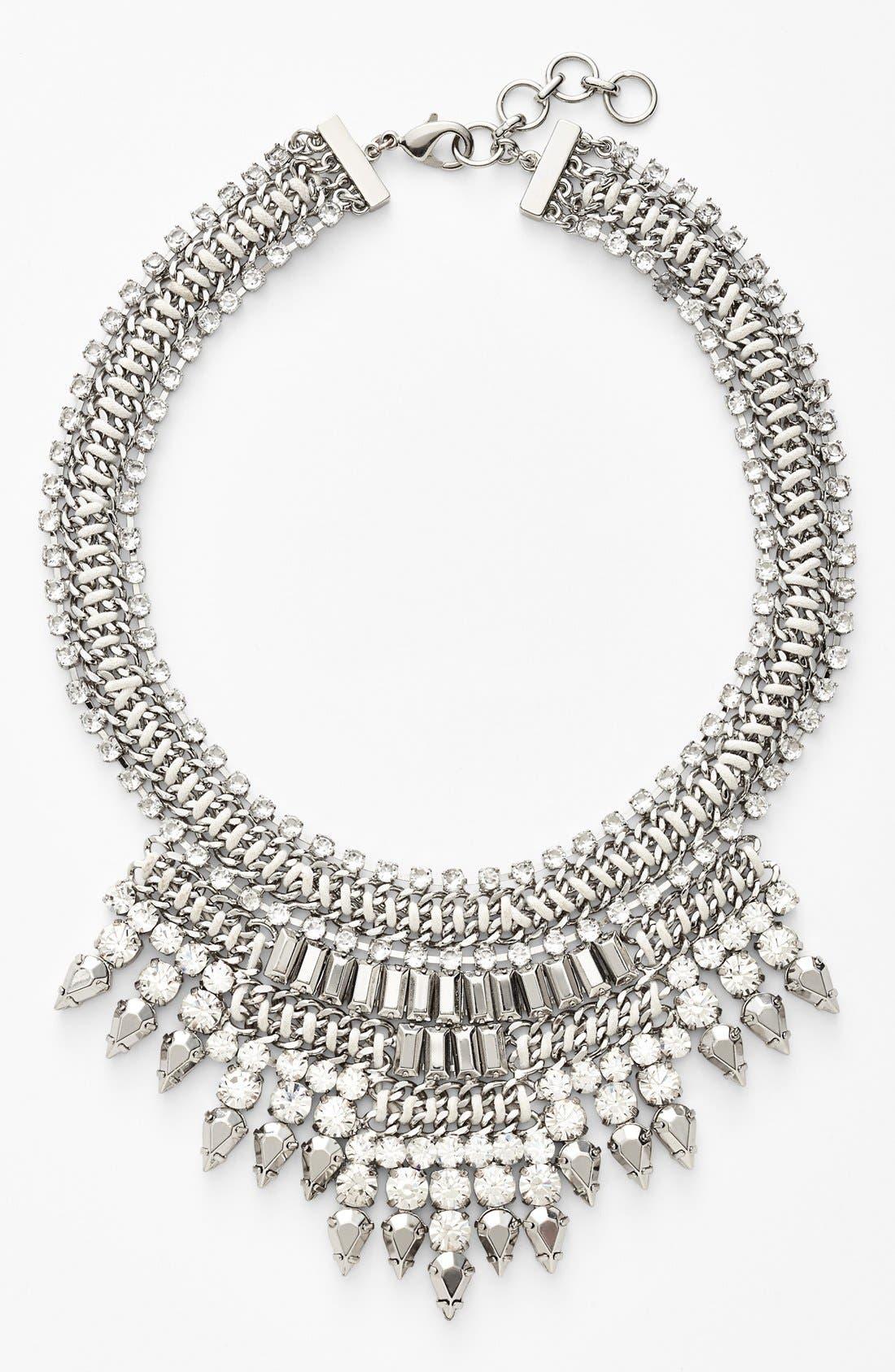 Main Image - Tasha Mixed Media Bib Necklace