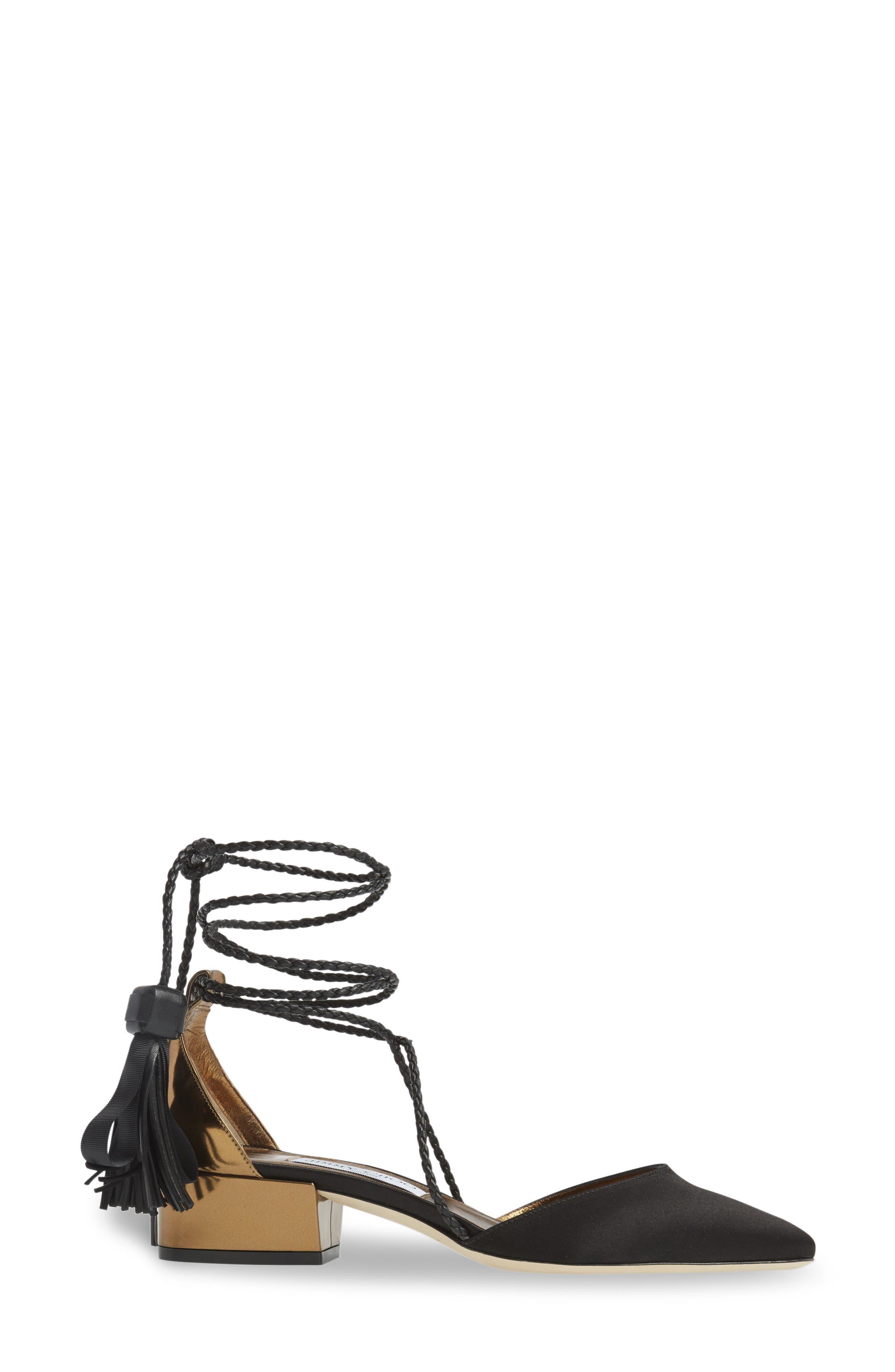 Alternate Image 4  - Jimmy Choo Duchess Ankle Wrap Flat (Women)