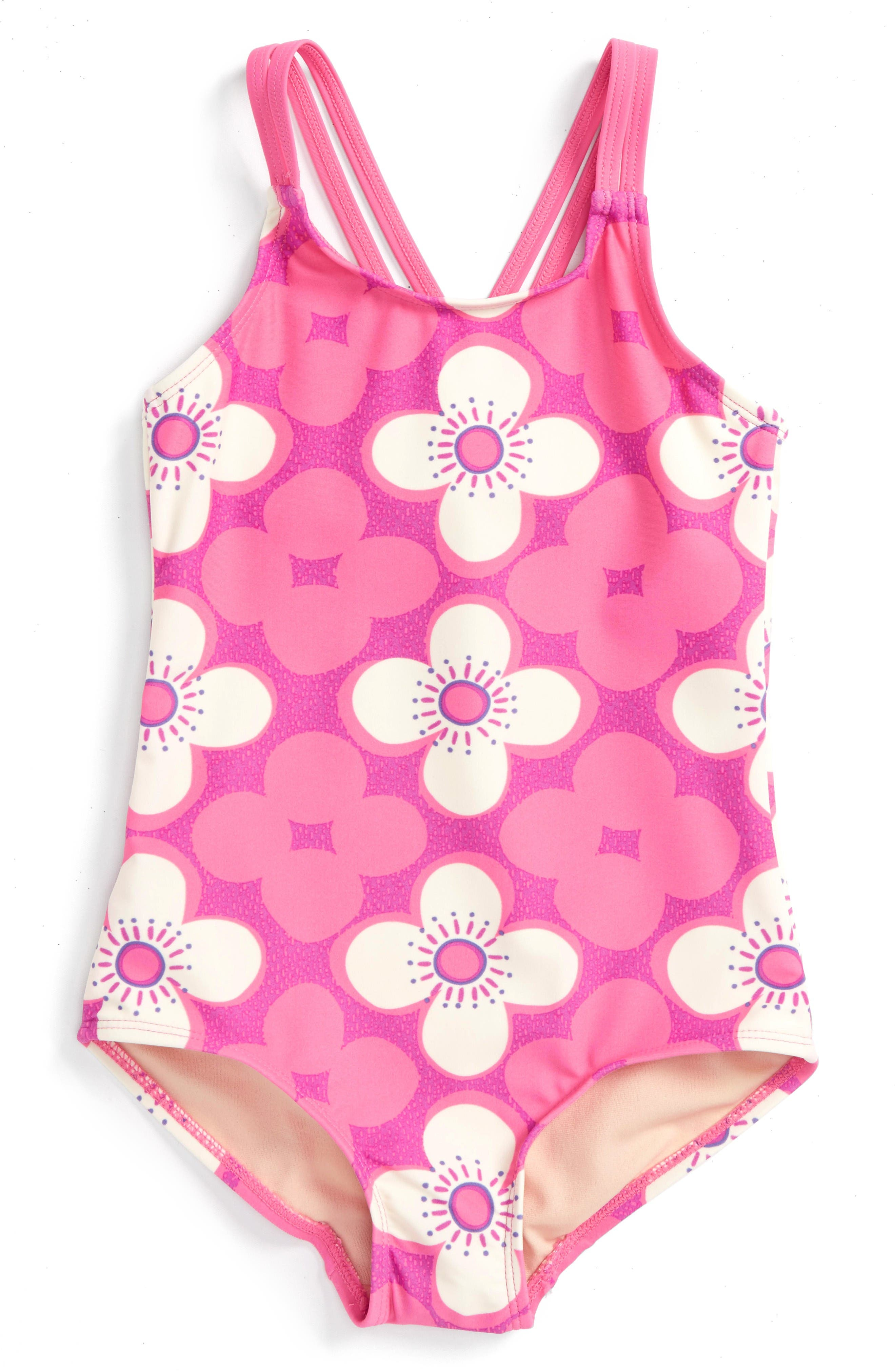 Tea Collection Curl Curl One-Piece Swimsuit (Toddler Girls, Little Girls & Big Girls)