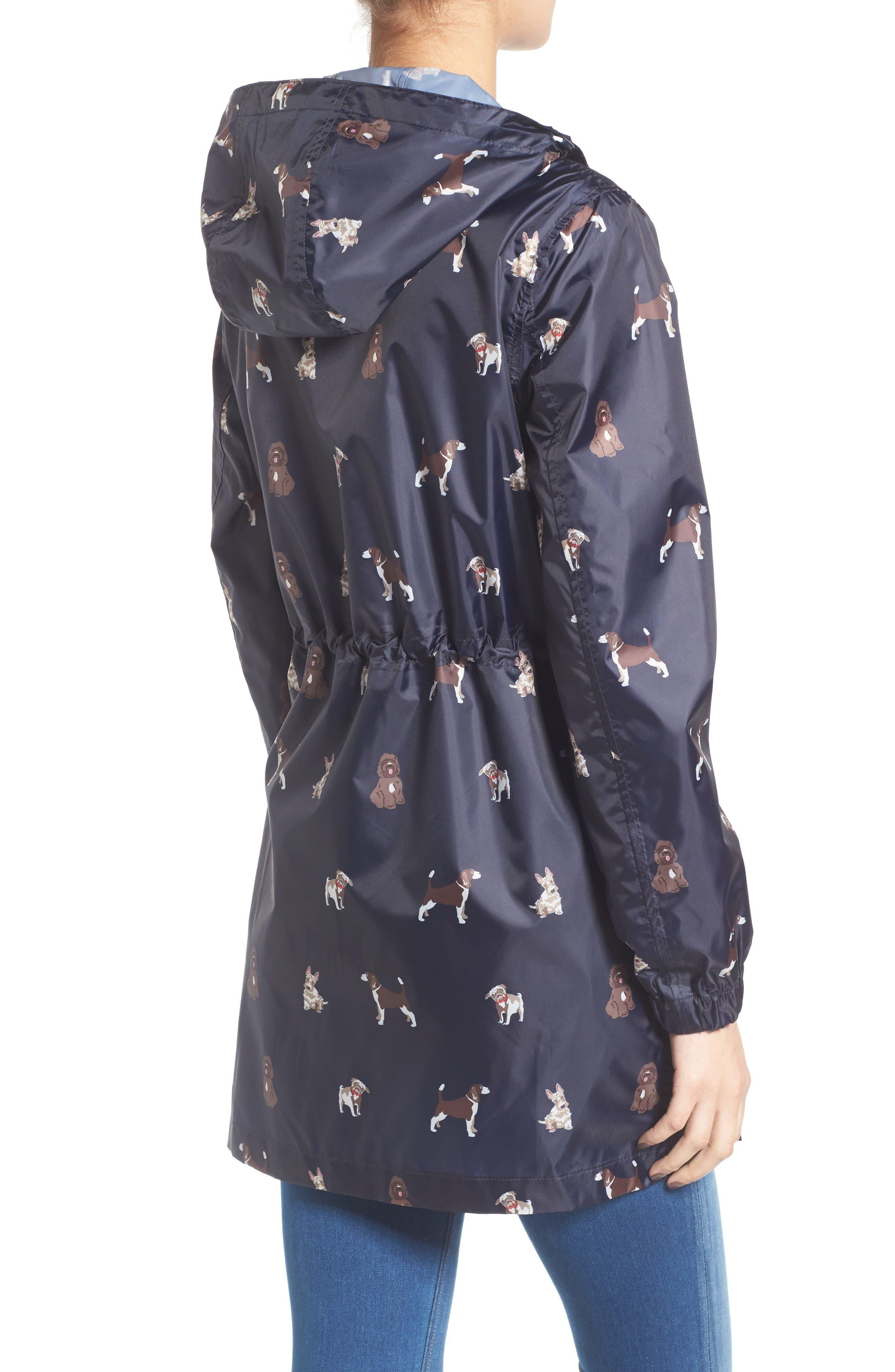 Alternate Image 2  - Joules Right as Rain Packable Print Hooded Raincoat