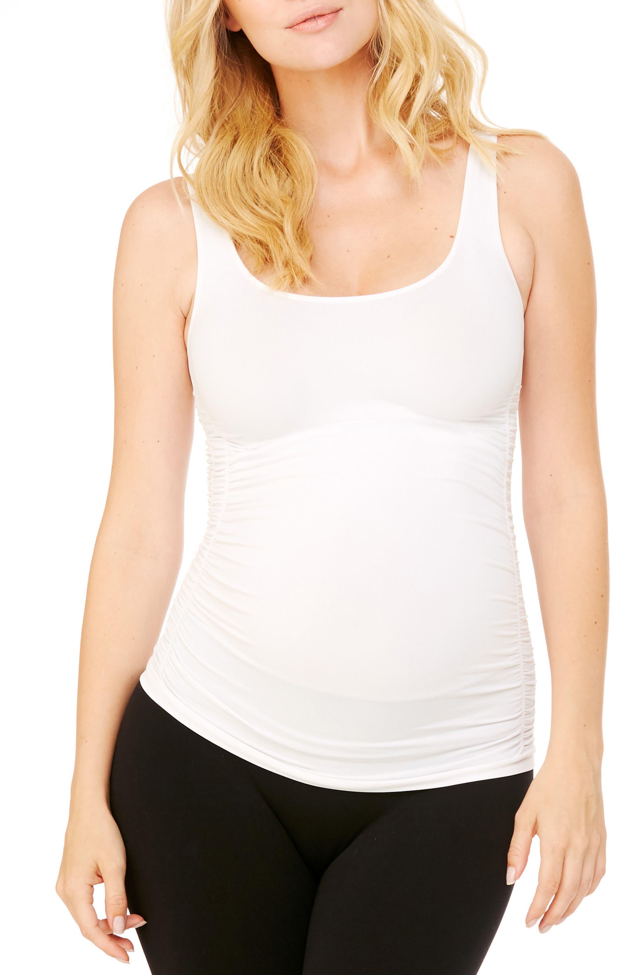Ingrid & Isabel® Seamless Ruched Maternity Tank