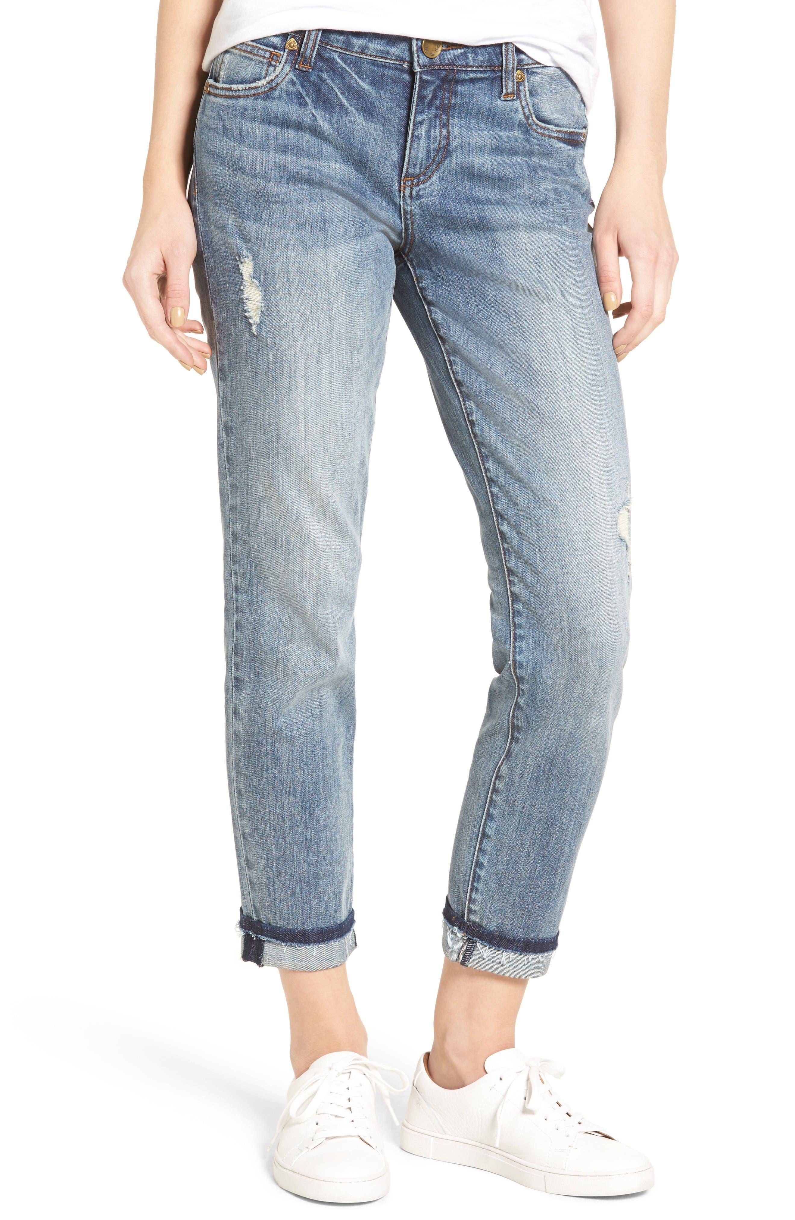 KUT from the Kloth Uma Stretch Boyfriend Jeans