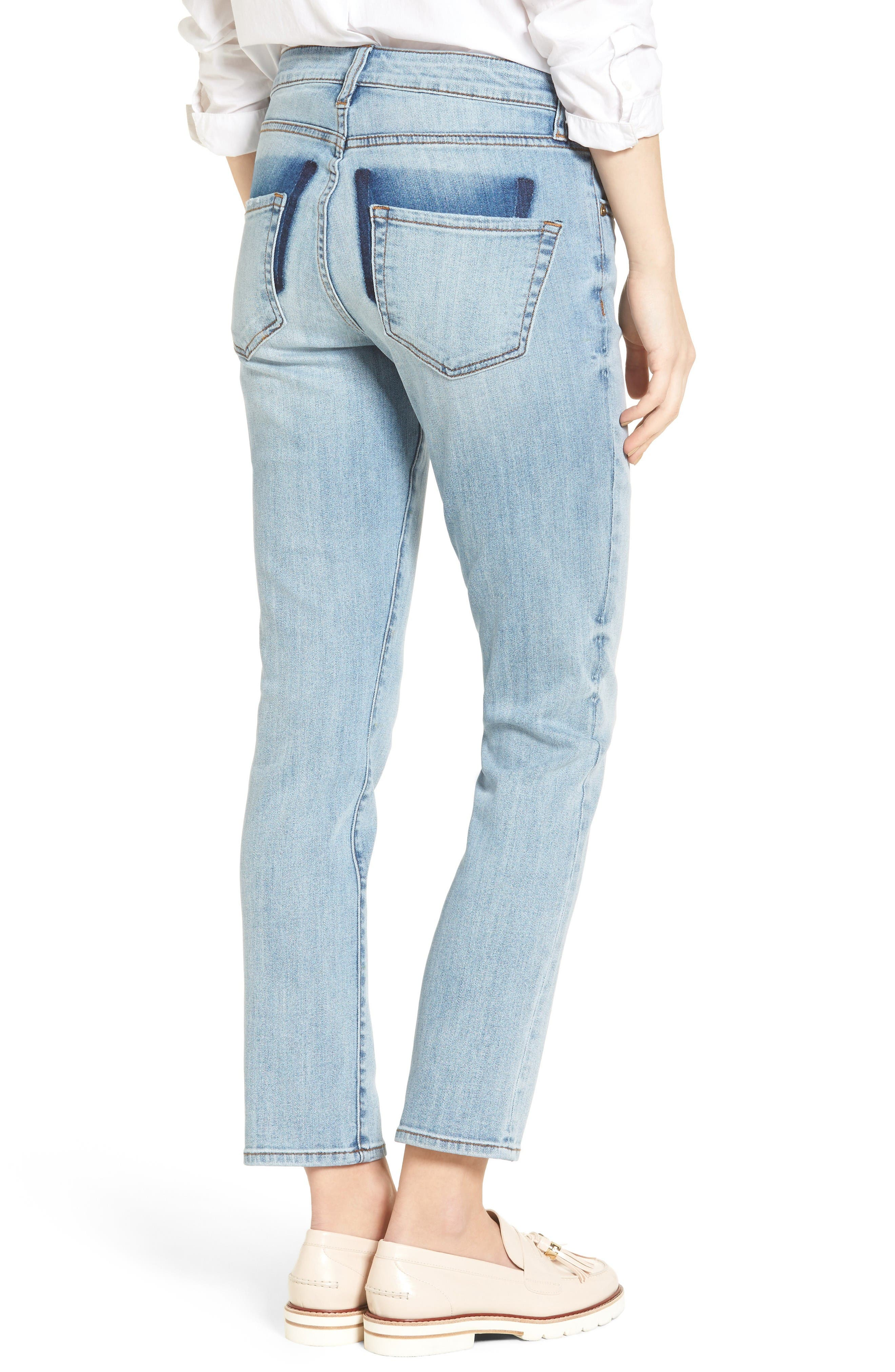 Alternate Image 2  - KUT from the Kloth Reese Stretch Ankle Straight Leg Jeans (Celebratory)