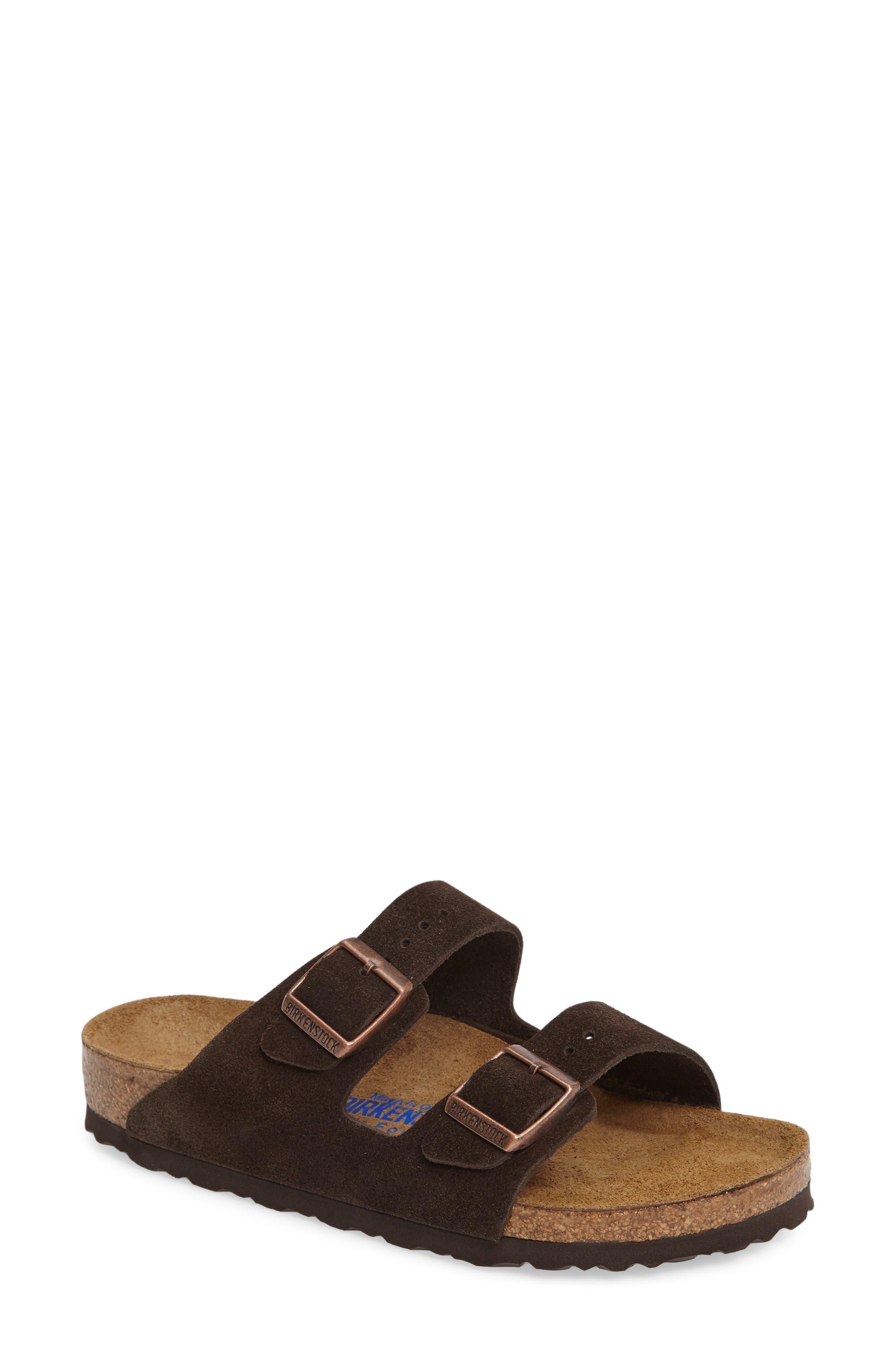 Alternate Image 1 Selected - Birkenstock 'Arizona' Soft Footbed Suede Sandal (Women)
