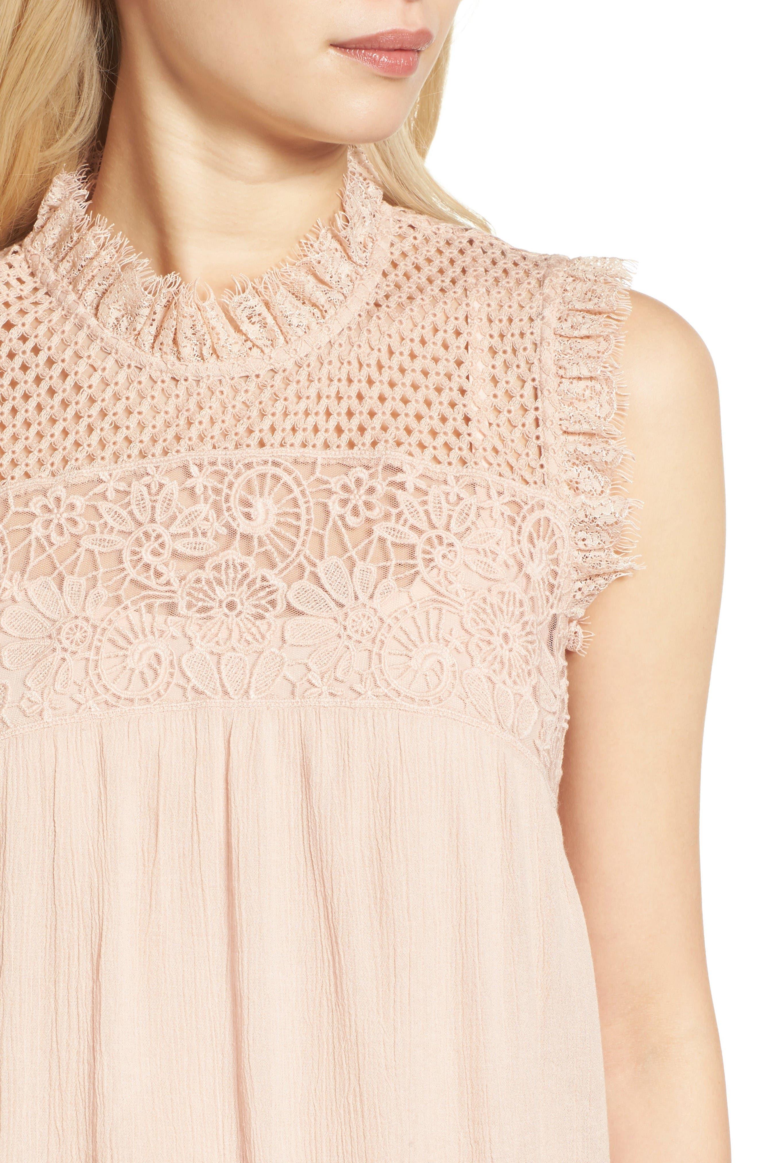 Alternate Image 4  - Hinge Lace Yoke Babydoll Dress