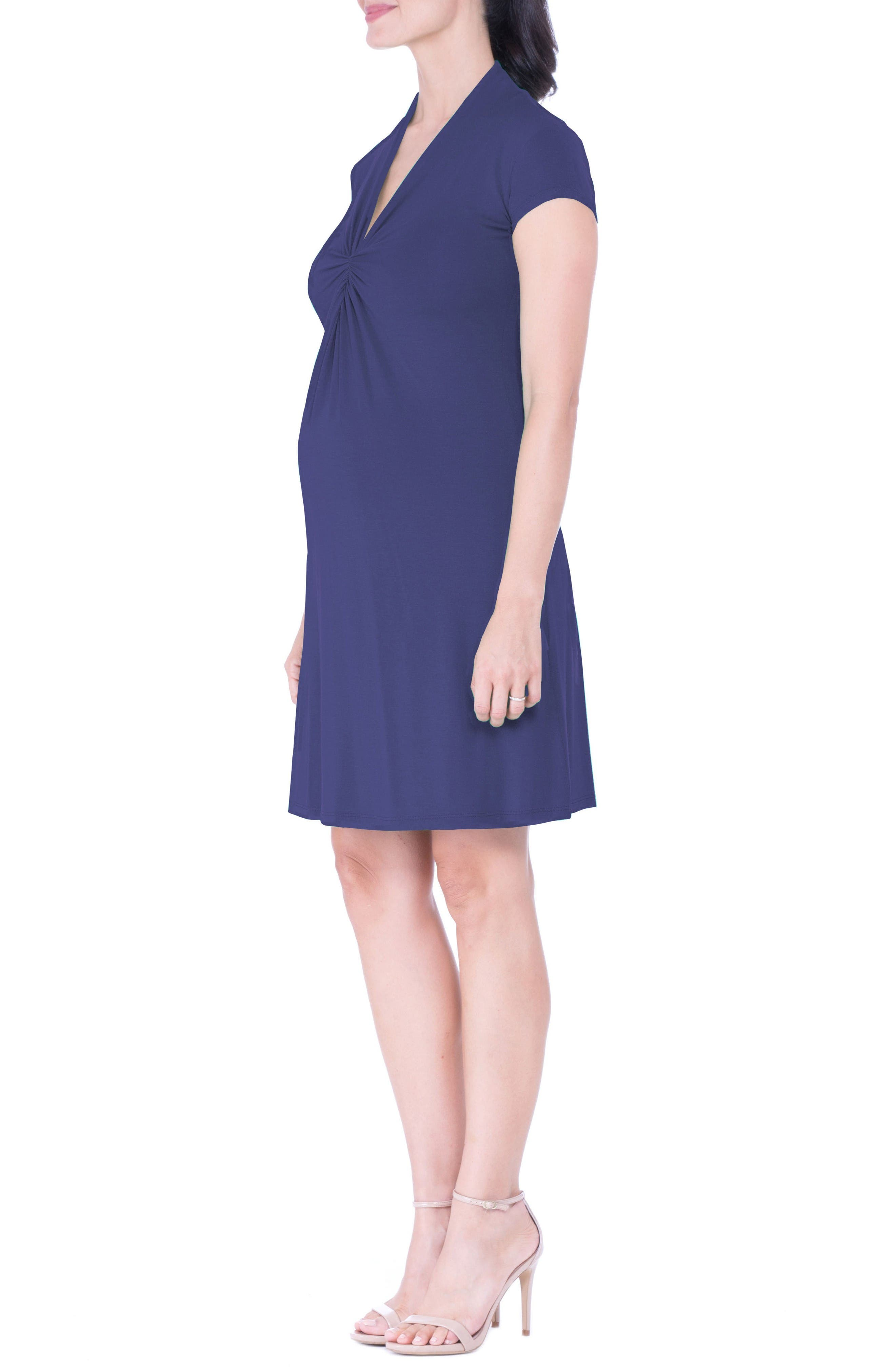 Alternate Image 3  - Olian Maternity Wrap Dress