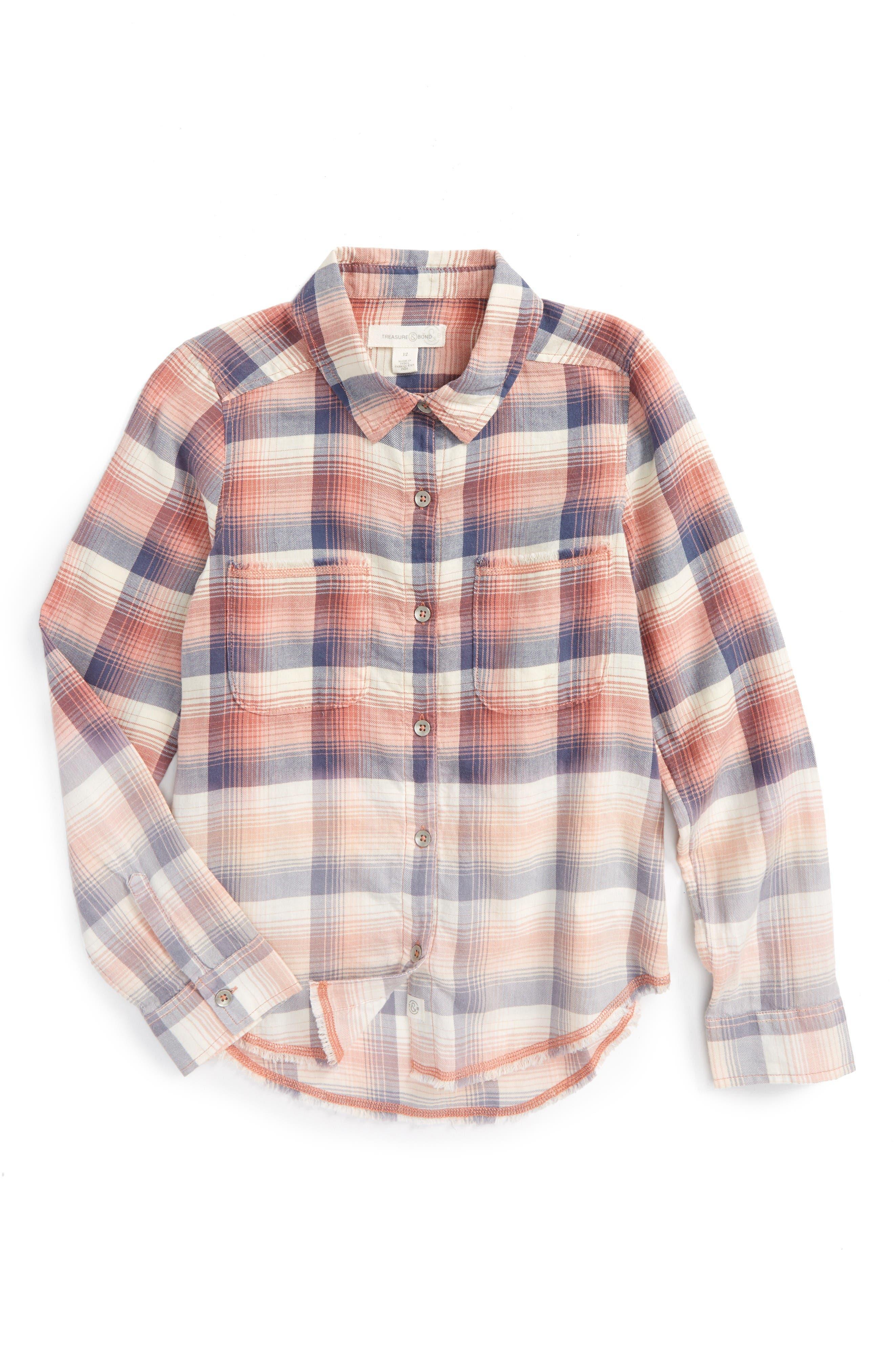 TREASURE & BOND Plaid Flannel Shirt