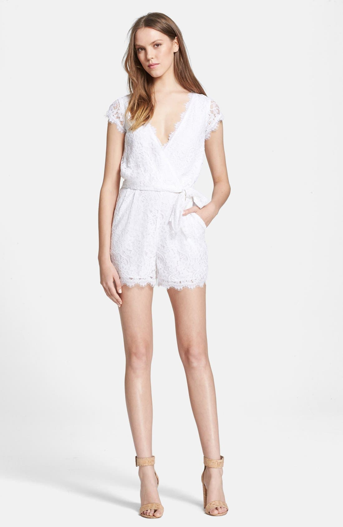 Alternate Image 1 Selected - Diane von Furstenberg 'Purdette' Lace Romper