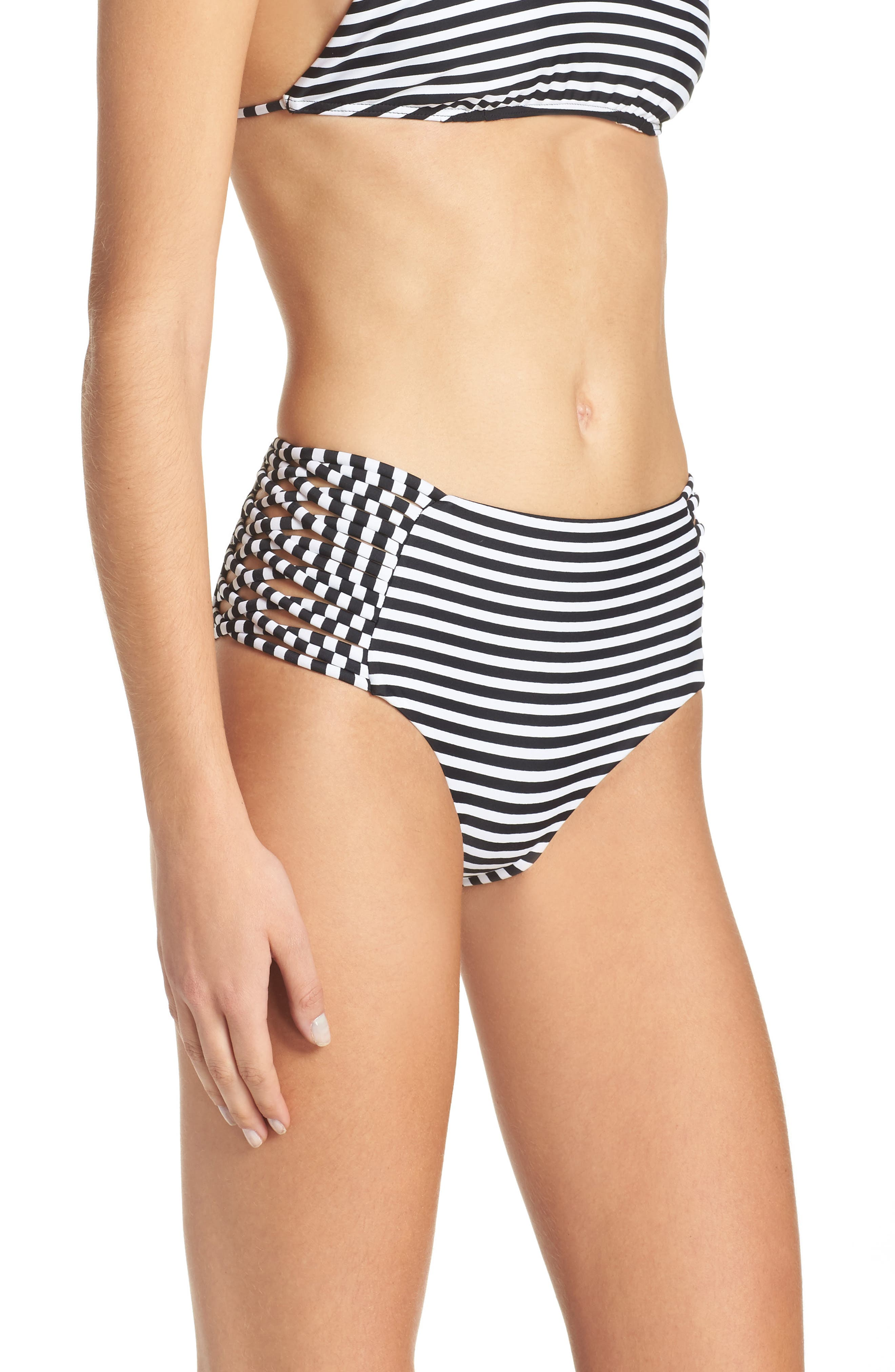 Alternate Image 3  - Byrds of Paradise Morrissey High Waist Bikini Bottoms