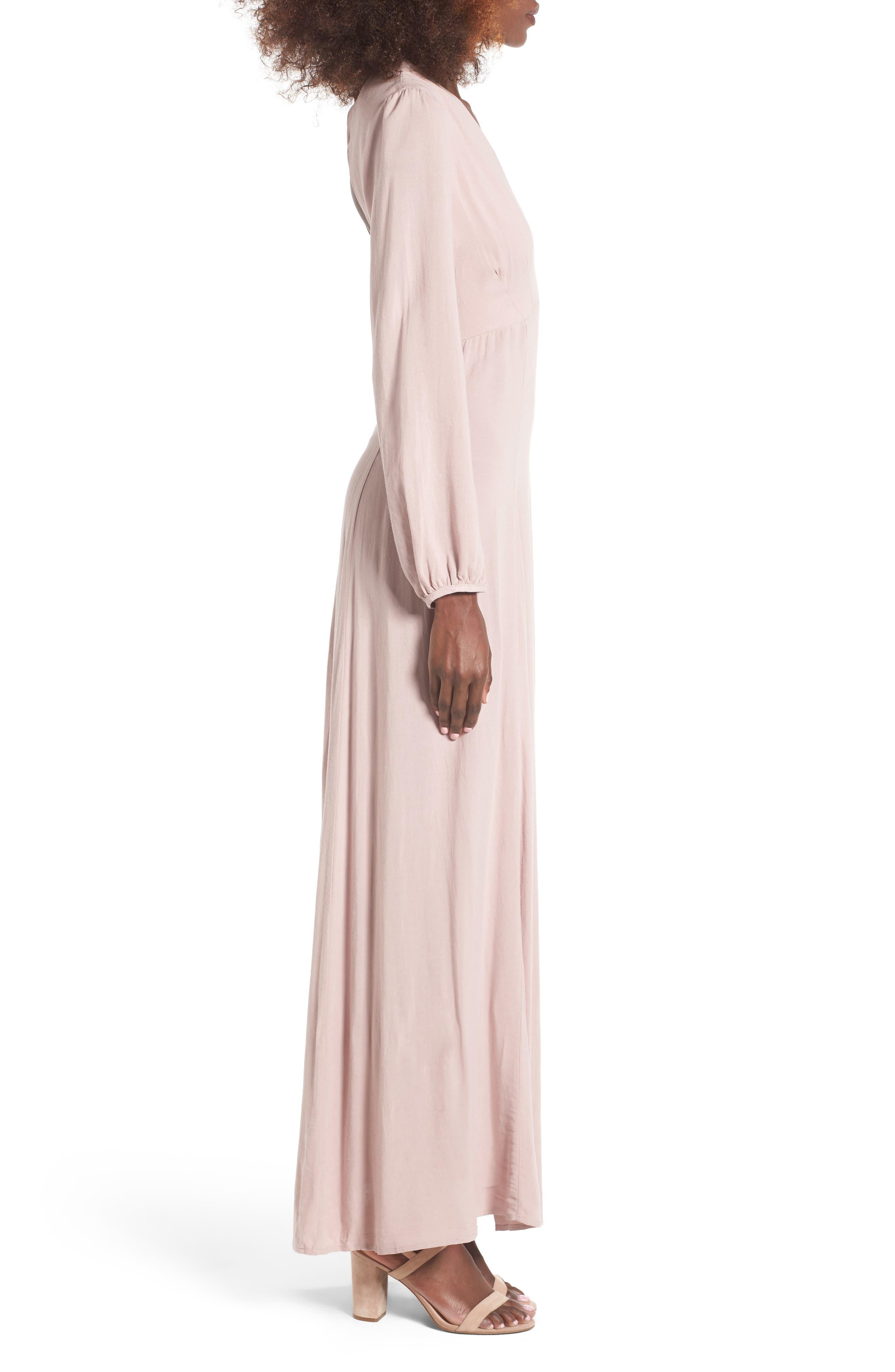 Alternate Image 3  - Lush Open Back Woven Maxi Dress