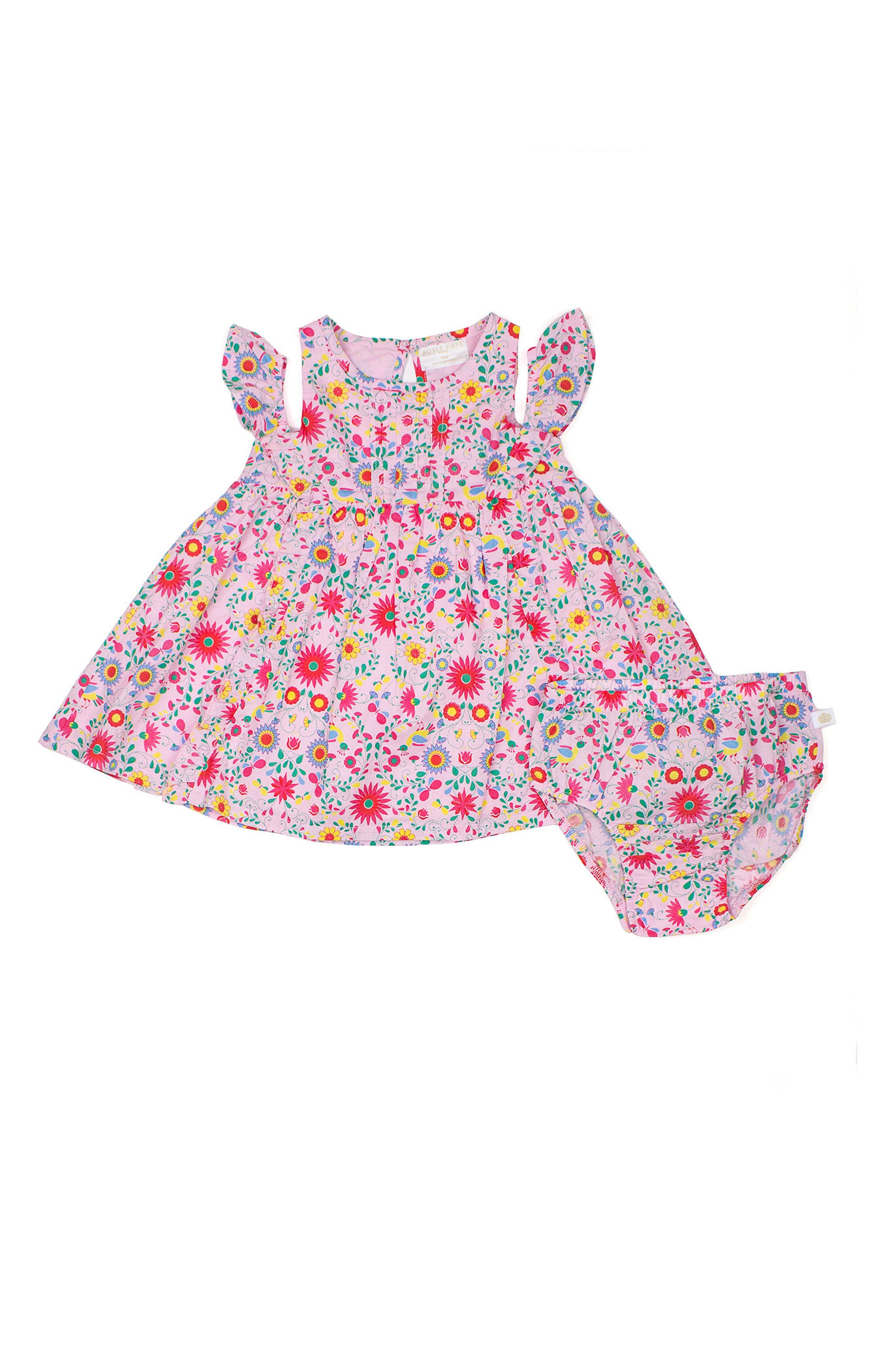 Rosie Pope Floral Off the Shoulder Dress (Baby Girls)