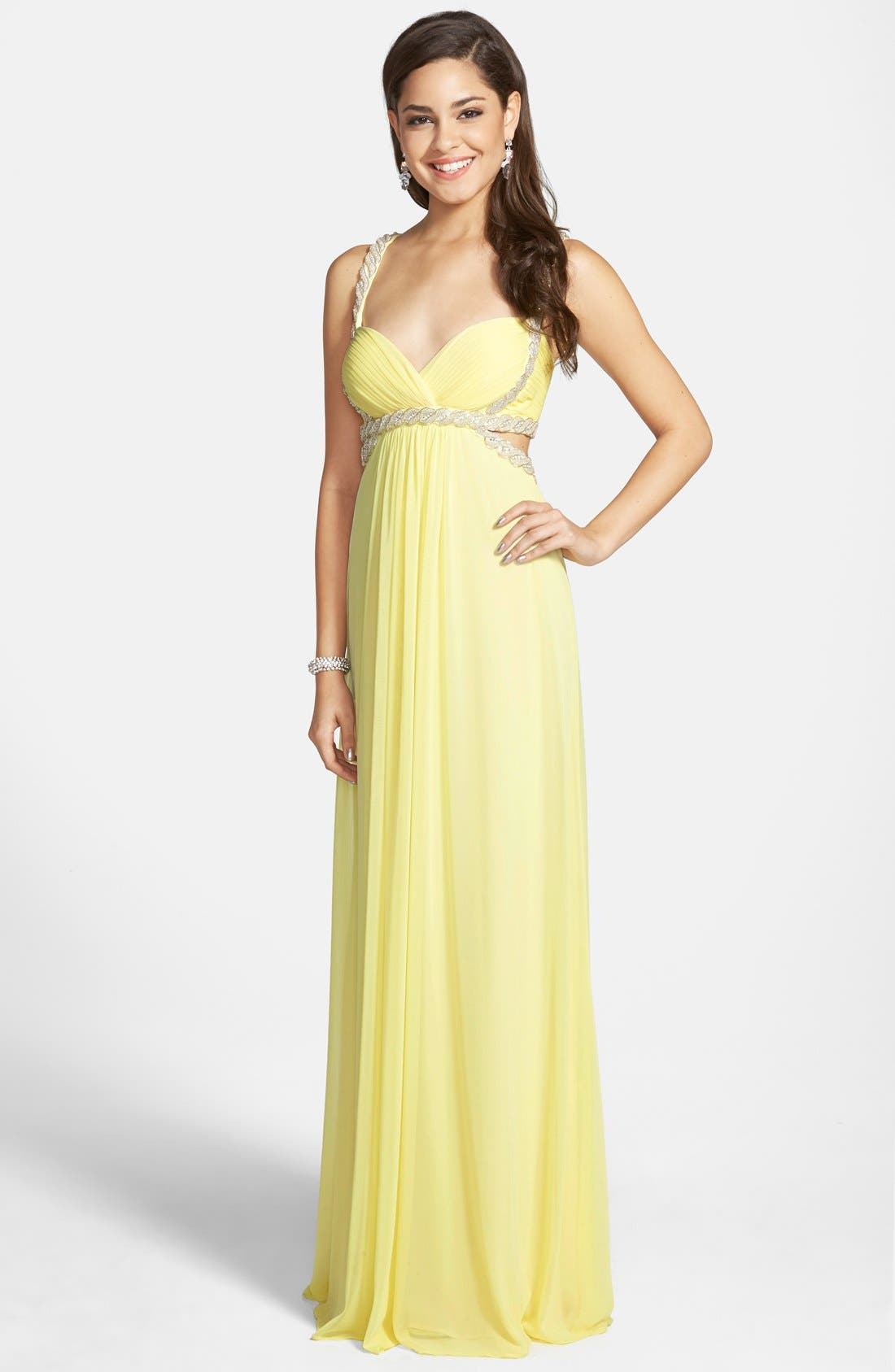 Main Image - Xscape Embellished Jersey Gown
