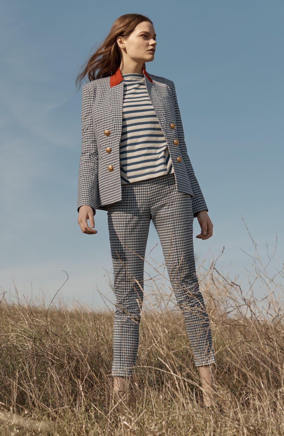Alternate Image 6  - Veronica Beard Tee High Waisted Seam Trousers