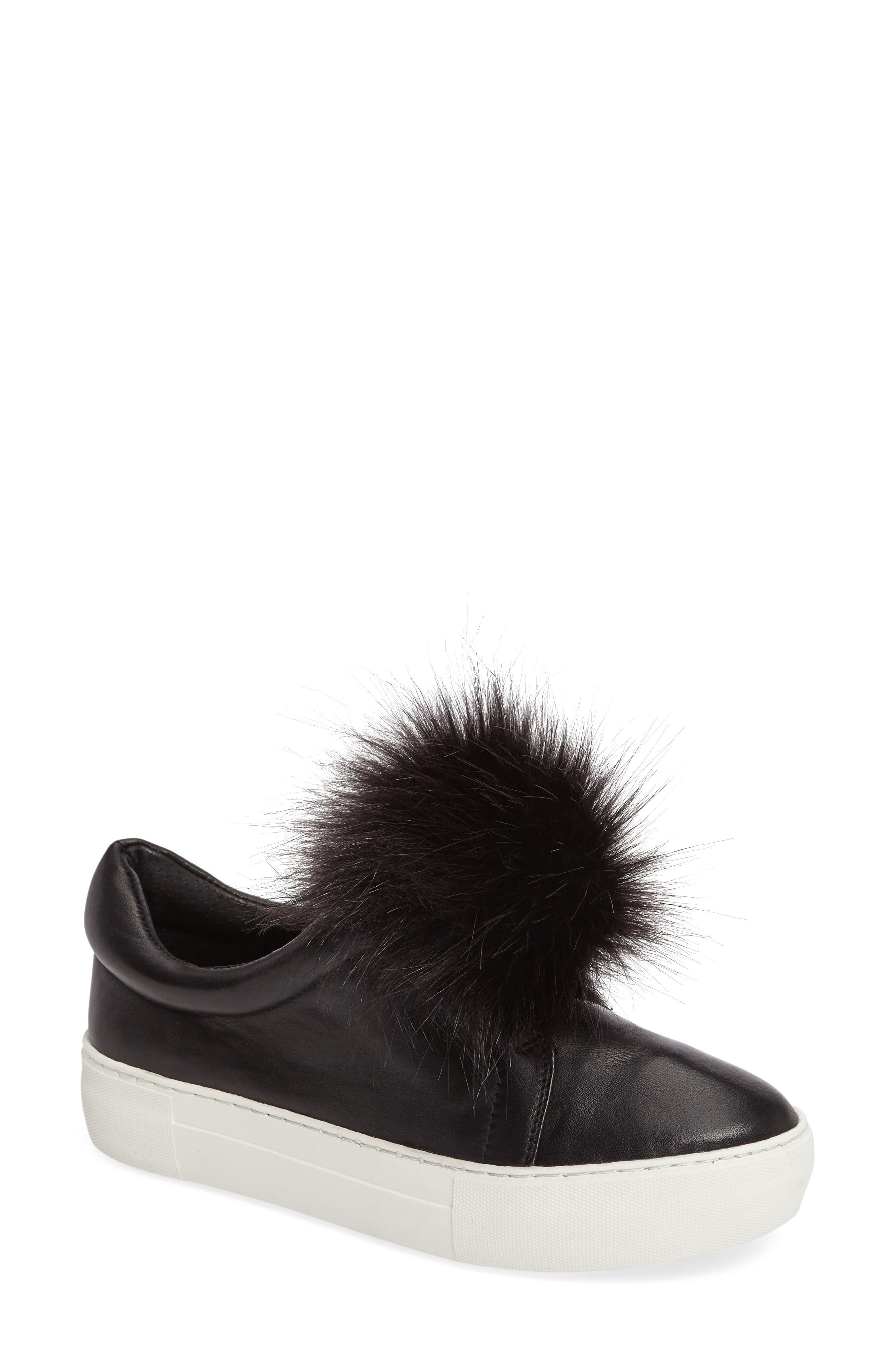 Alternate Image 1 Selected - JSlides Aurora Faux Fur Platform Sneaker (Women)