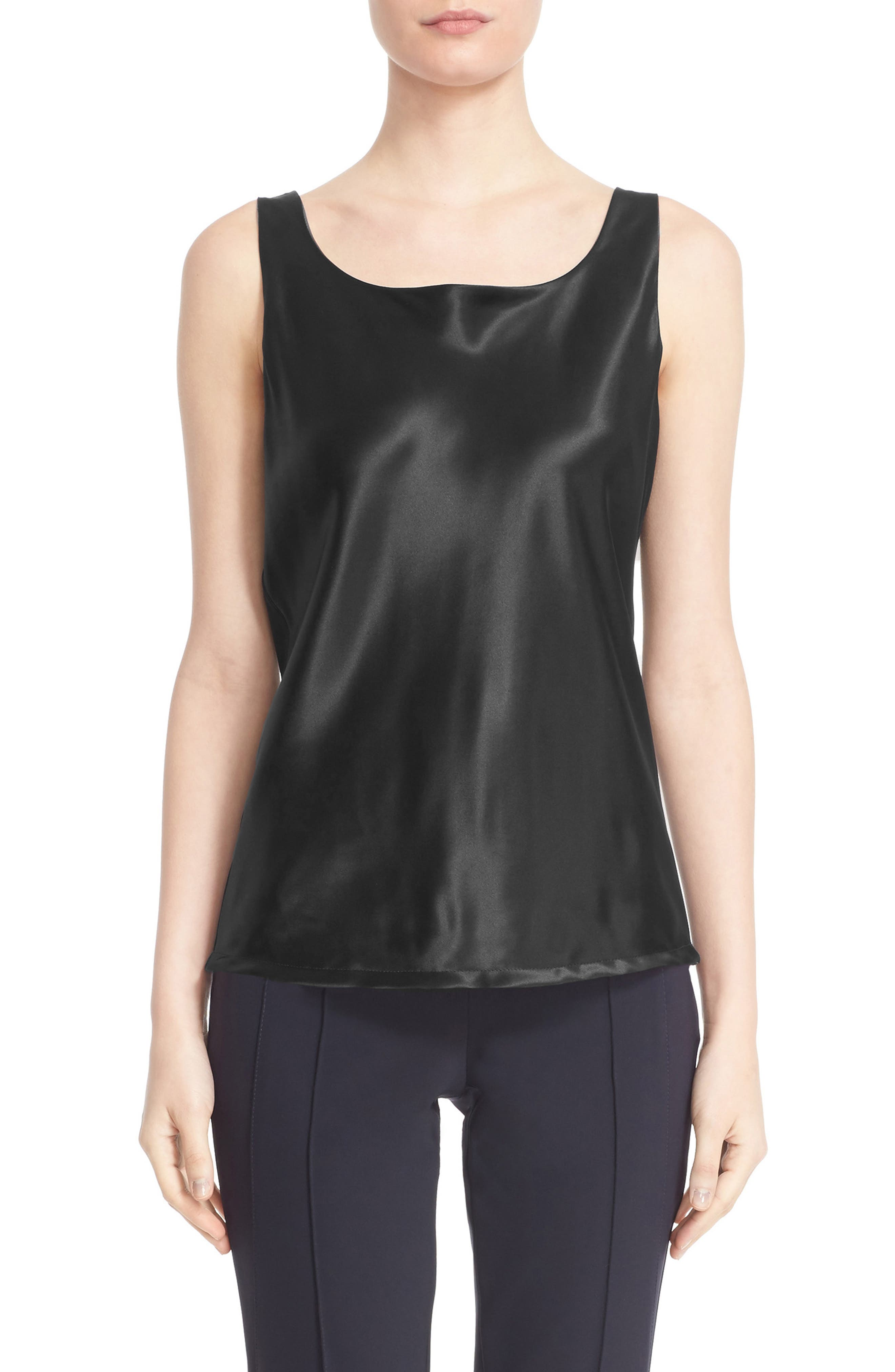 Alternate Image 1  - Lafayette 148 New York Reversible Refined Silk Charmeuse Tank (Regular & Petite)