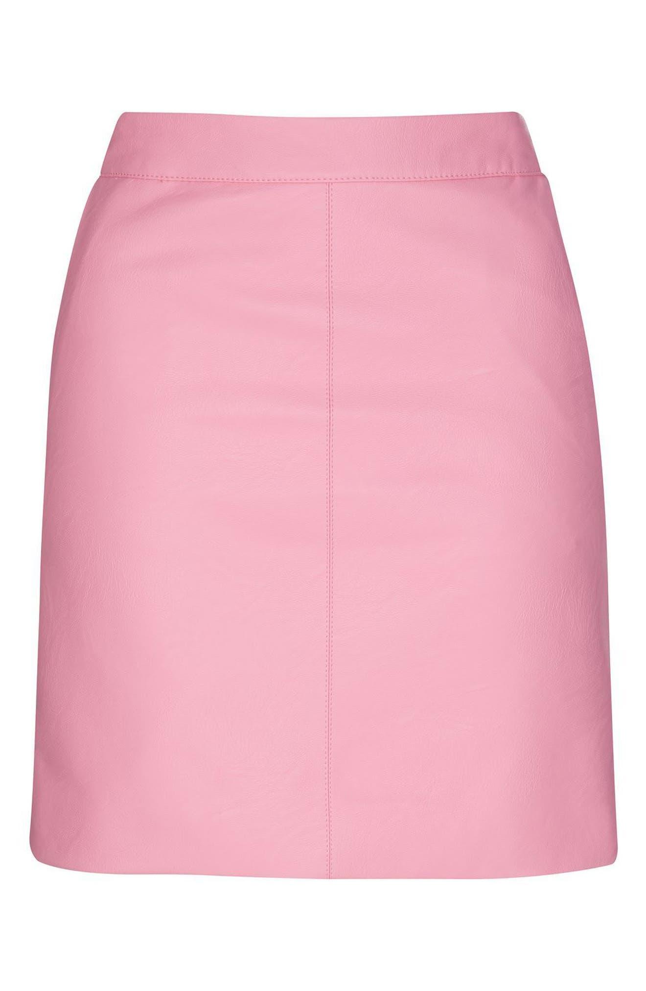 Alternate Image 5  - Topshop Faux Leather Pencil Skirt (Regular & Petite)