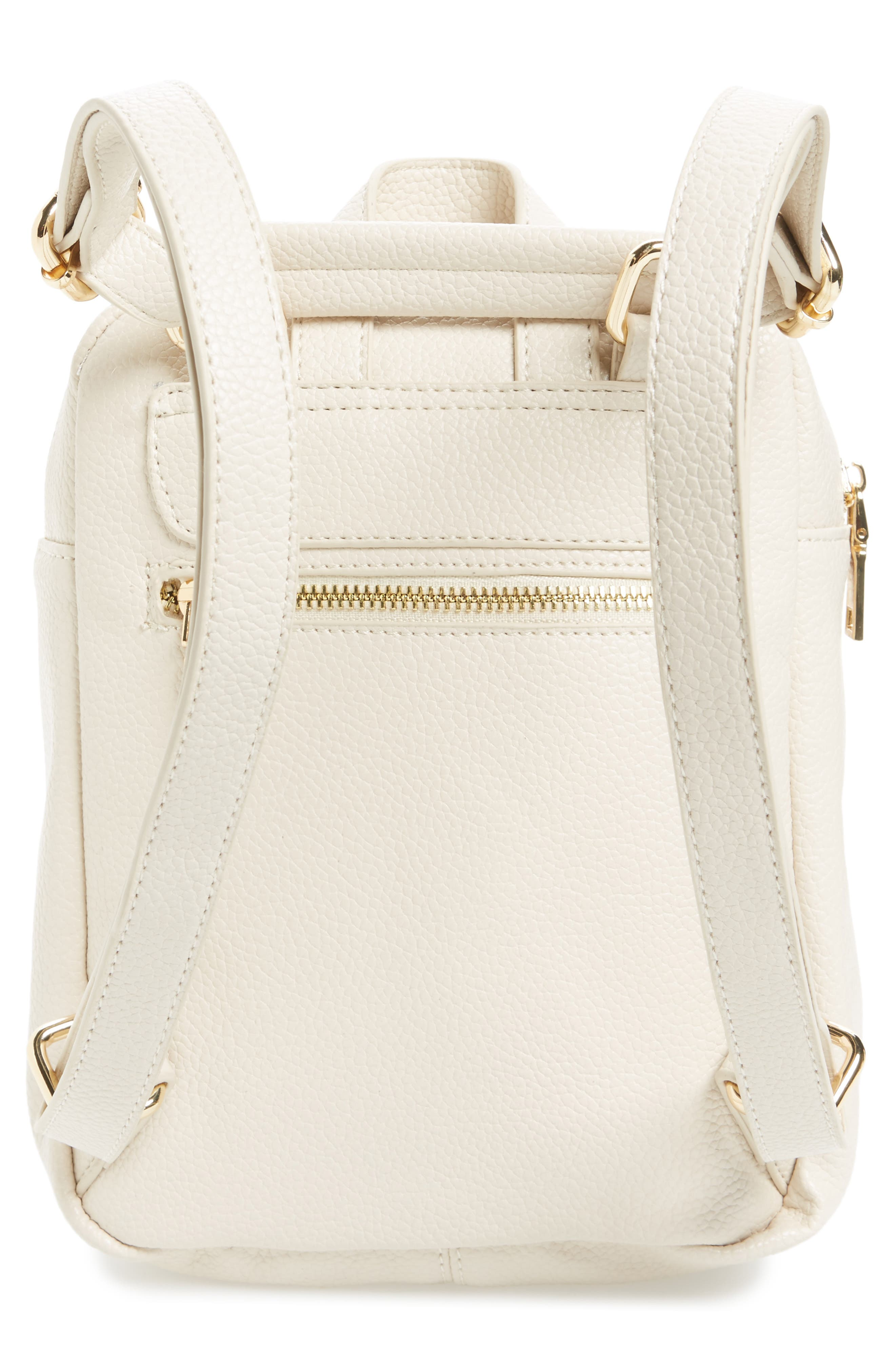 Alternate Image 3  - Girly Faux Leather Flap Mini Backpack
