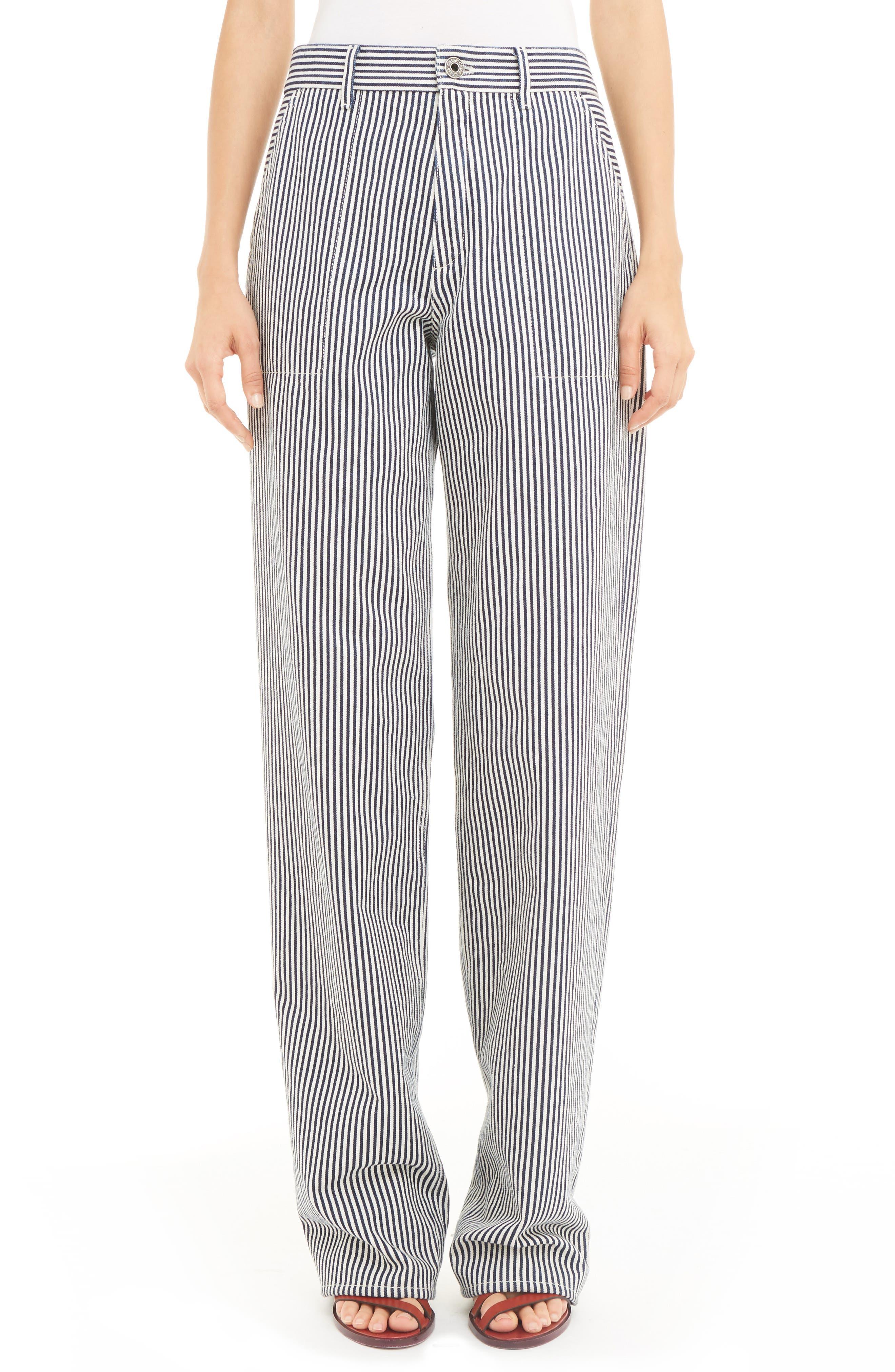 CHLOÉ Stripe Straight Leg Jeans