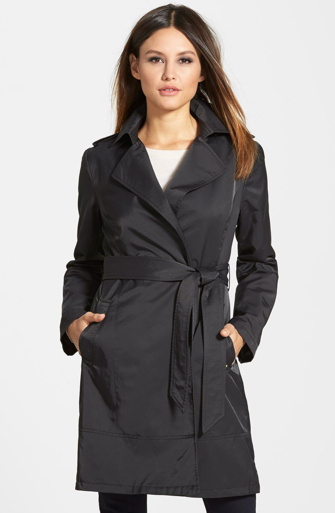 Alternate Image 1 Selected - Ellen Tracey Relaxed Trench Coat (Regular & Petite)