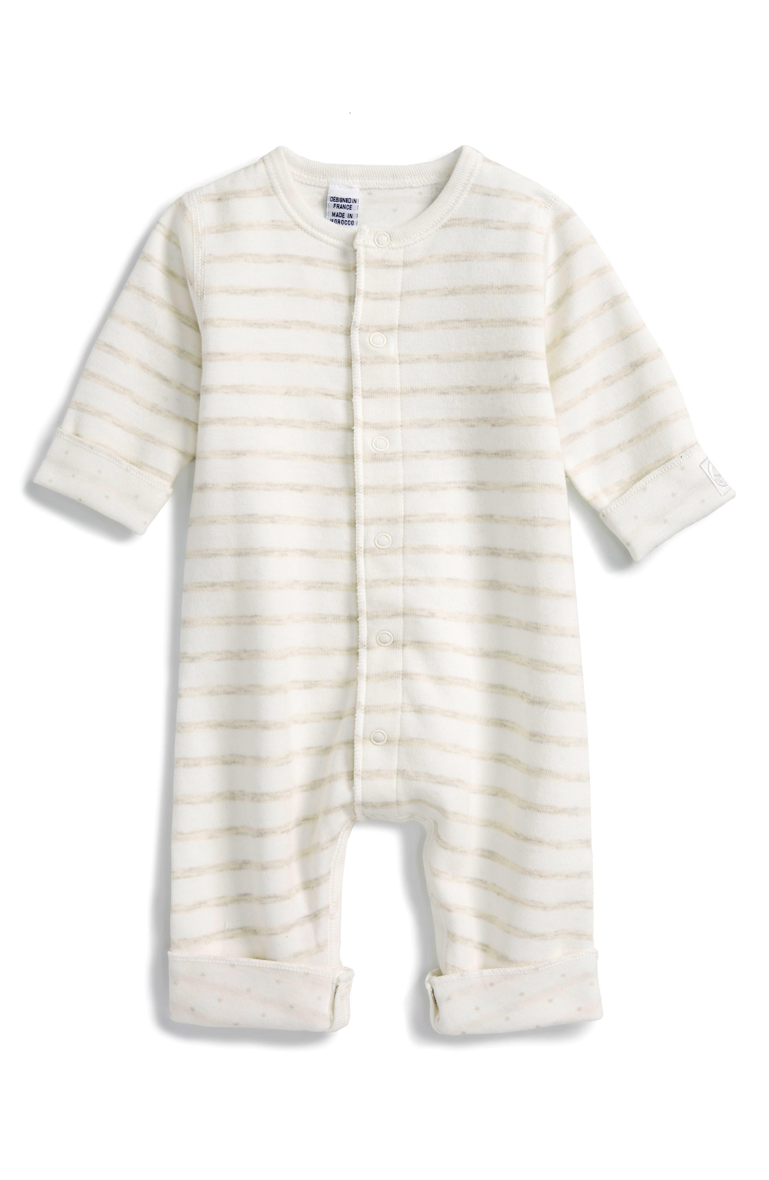 Petit Bateau Stripe Romper (Baby)