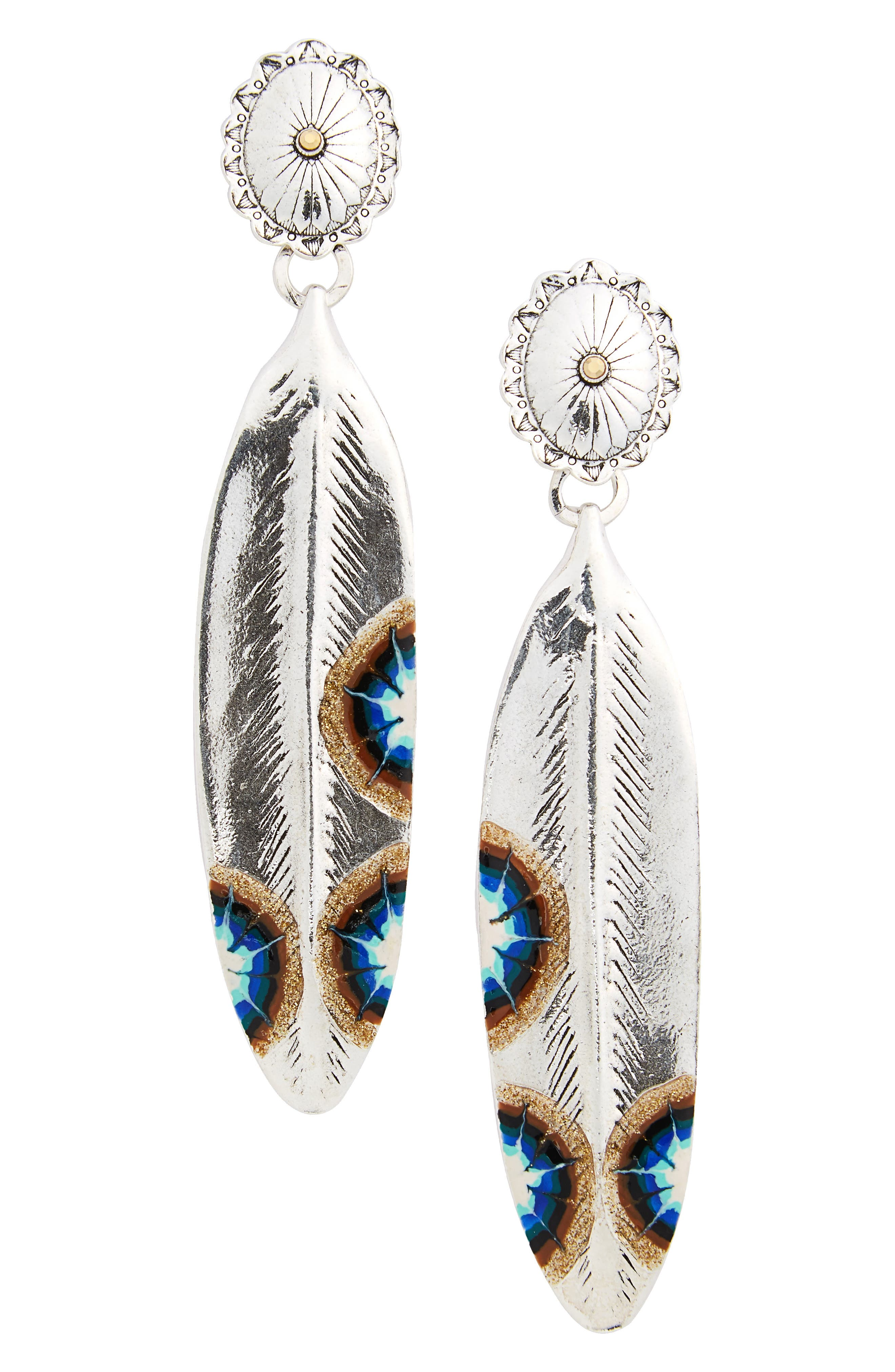 Alternate Image 1 Selected - Gas Bijoux Plume Drop Earrings