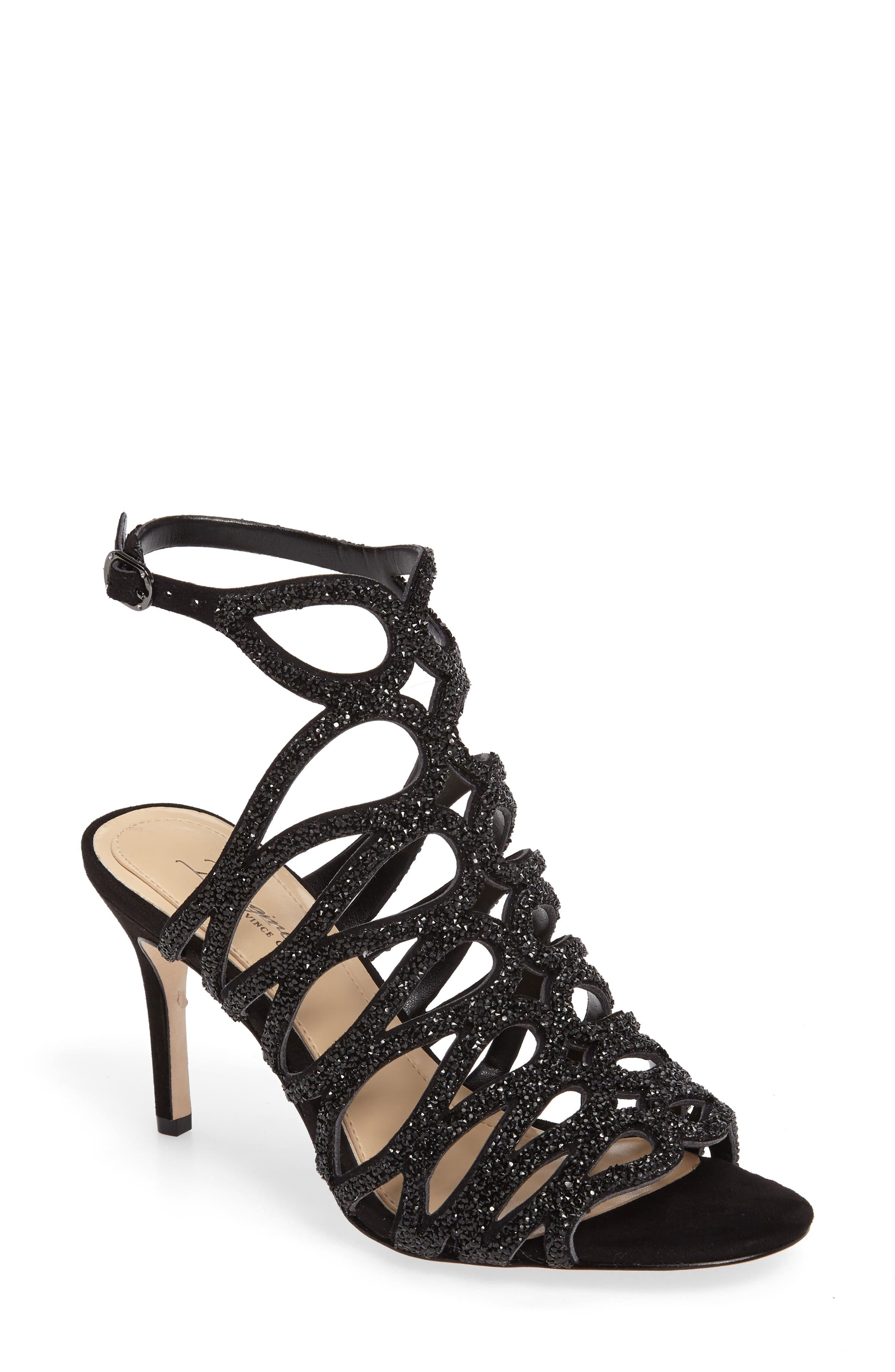 IMAGINE BY VINCE CAMUTO Plash Glitter Cage Sandal