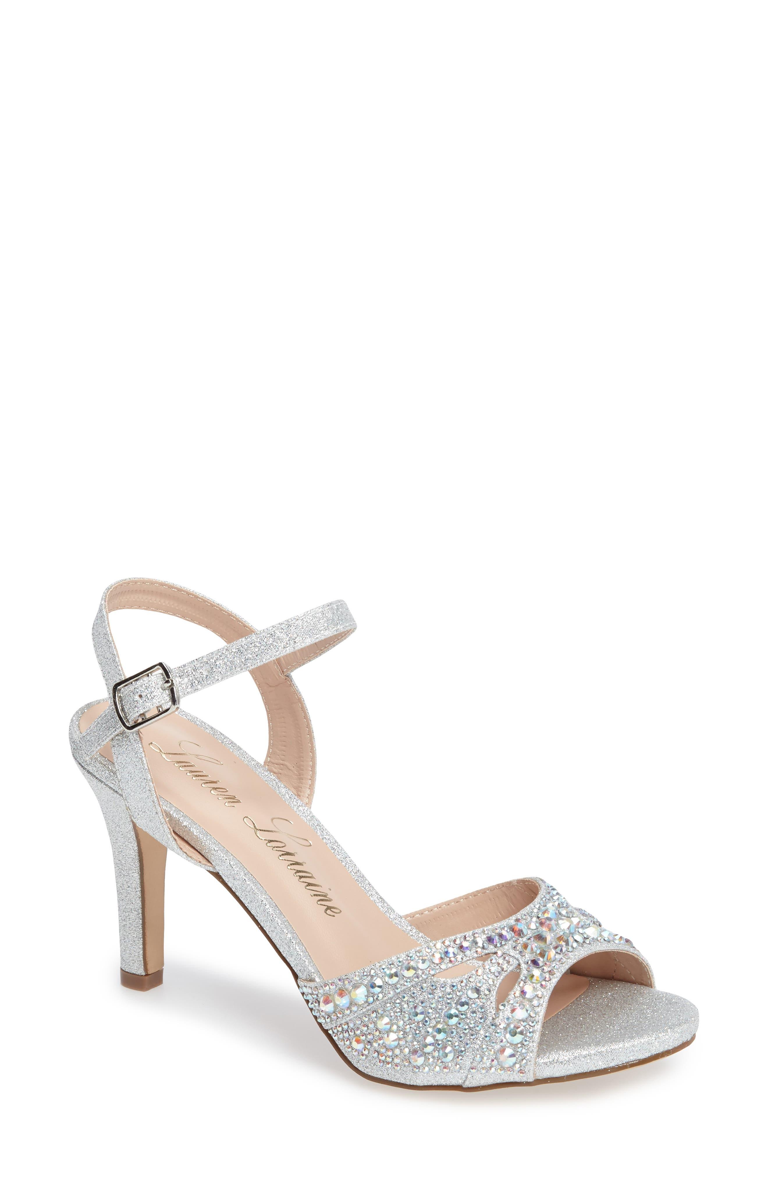Lauren Lorraine Florence Crystal Embellished Sandal (Women)