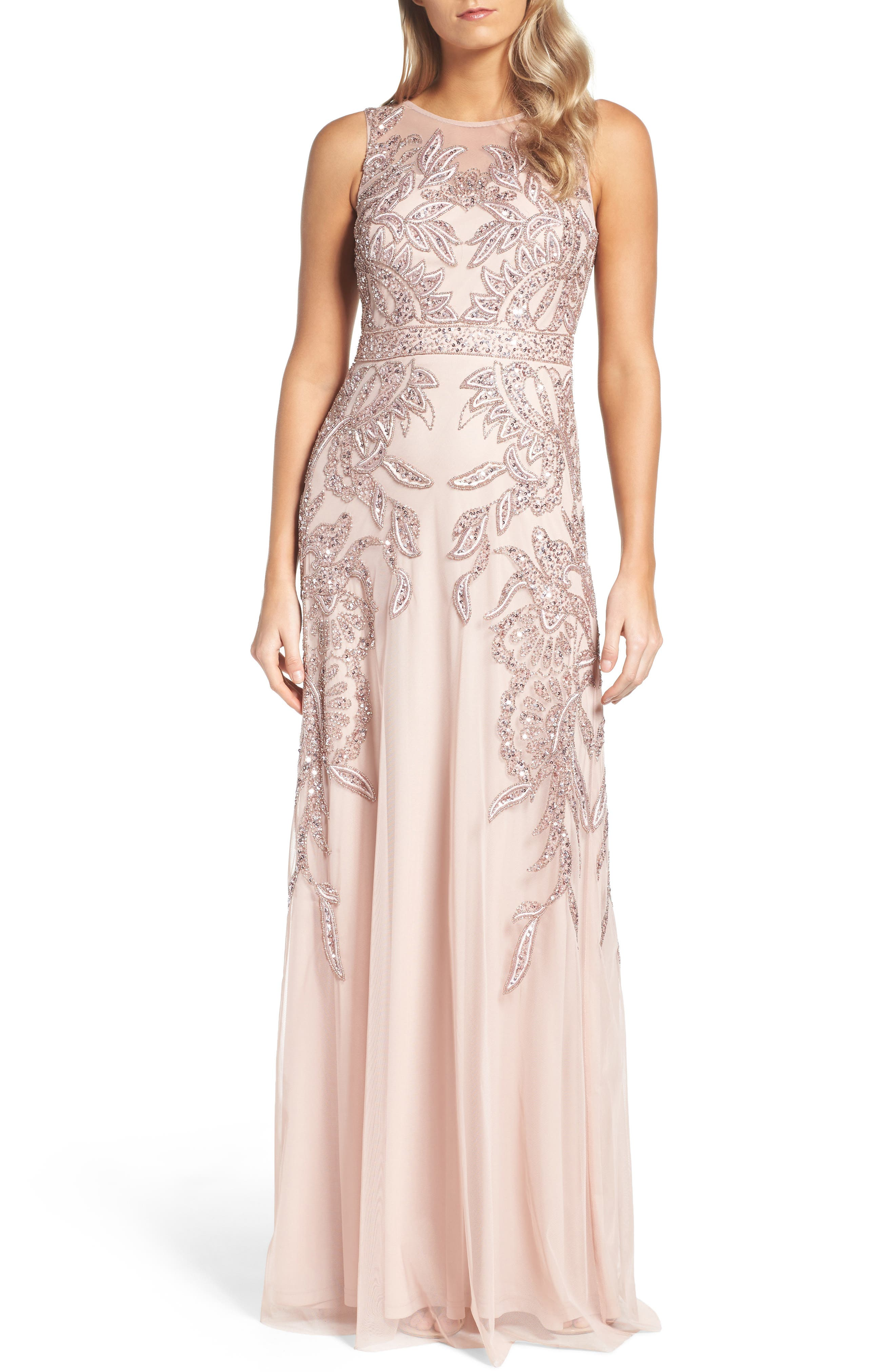Alternate Image 1 Selected - Adrianna Papell Embellished Gown (Regular & Petite)