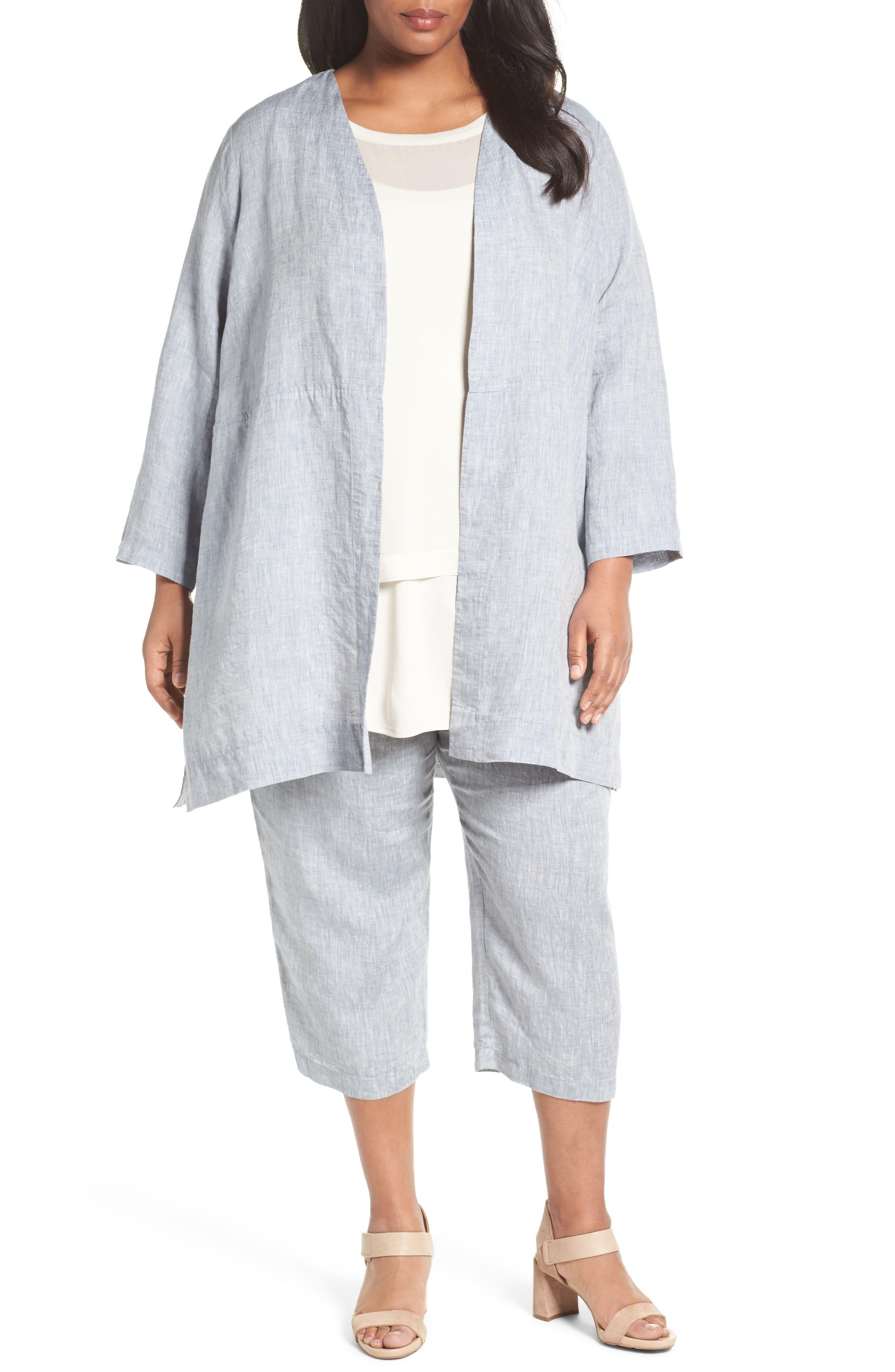 Eileen Fisher Organic Handkerchief Linen Jacket