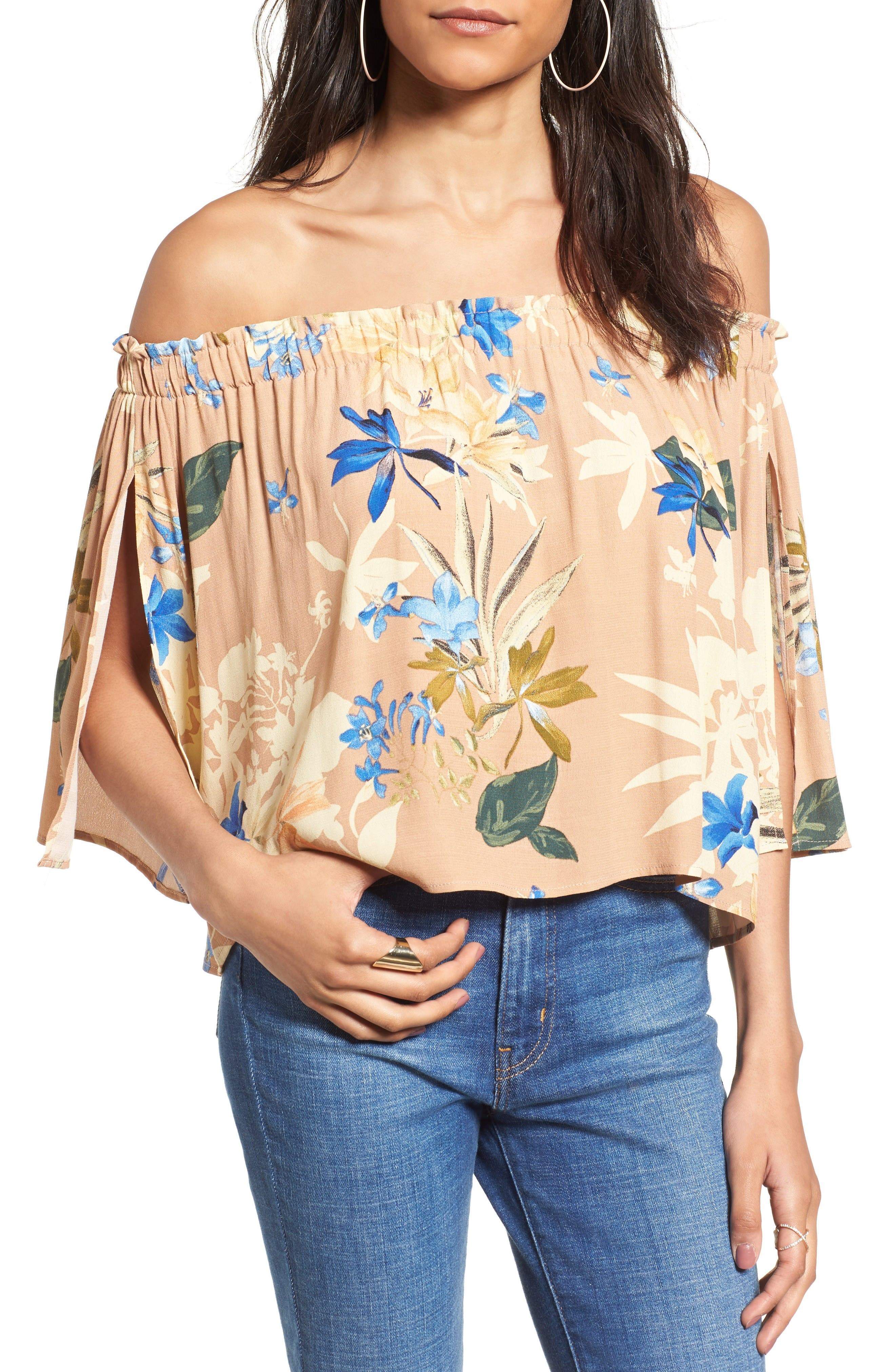 ASTR the Label Annabelle Off the Shoulder Blouse