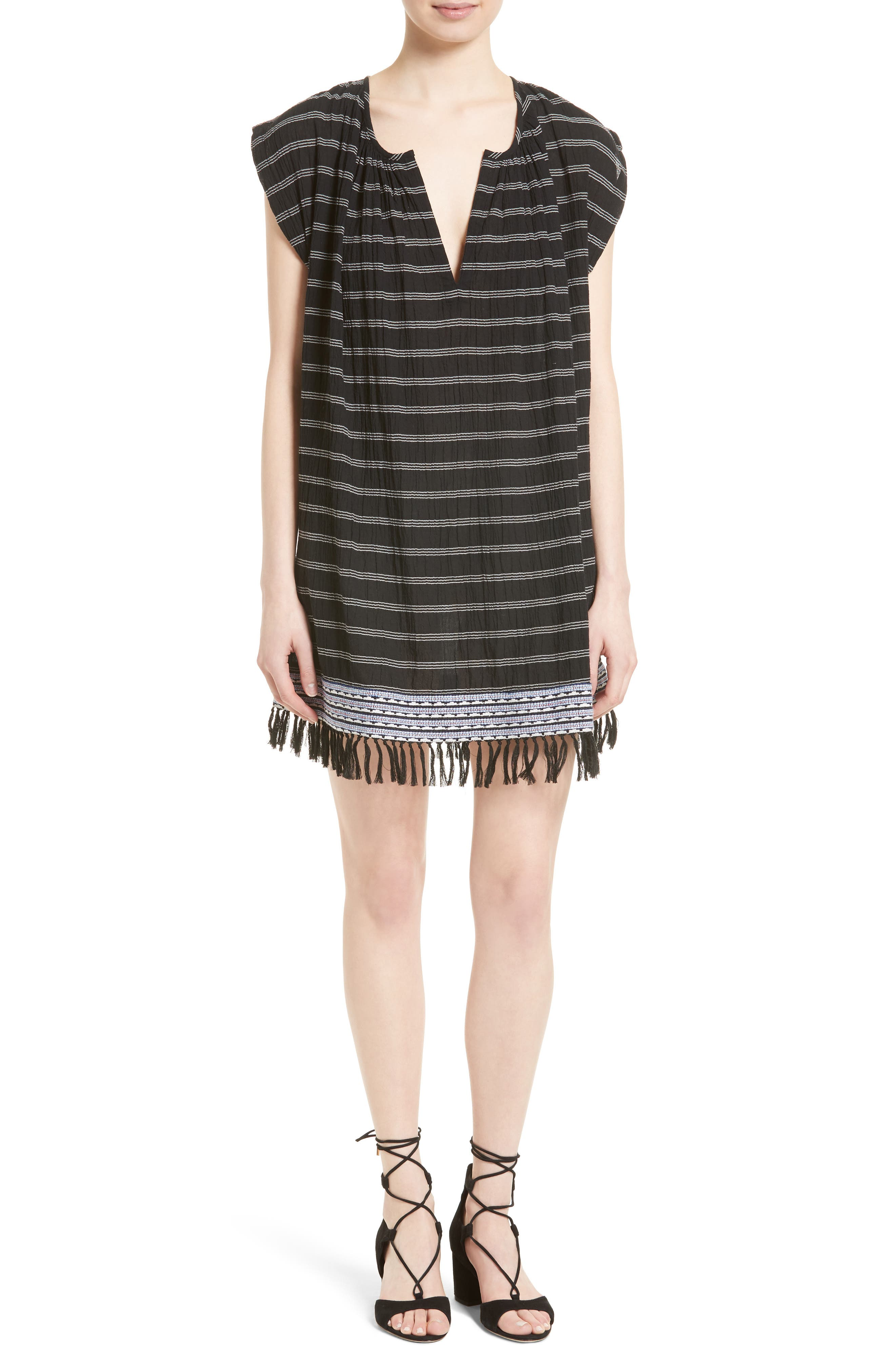 Soft Joie Santalina Stripe Cotton Voile Swing Dress