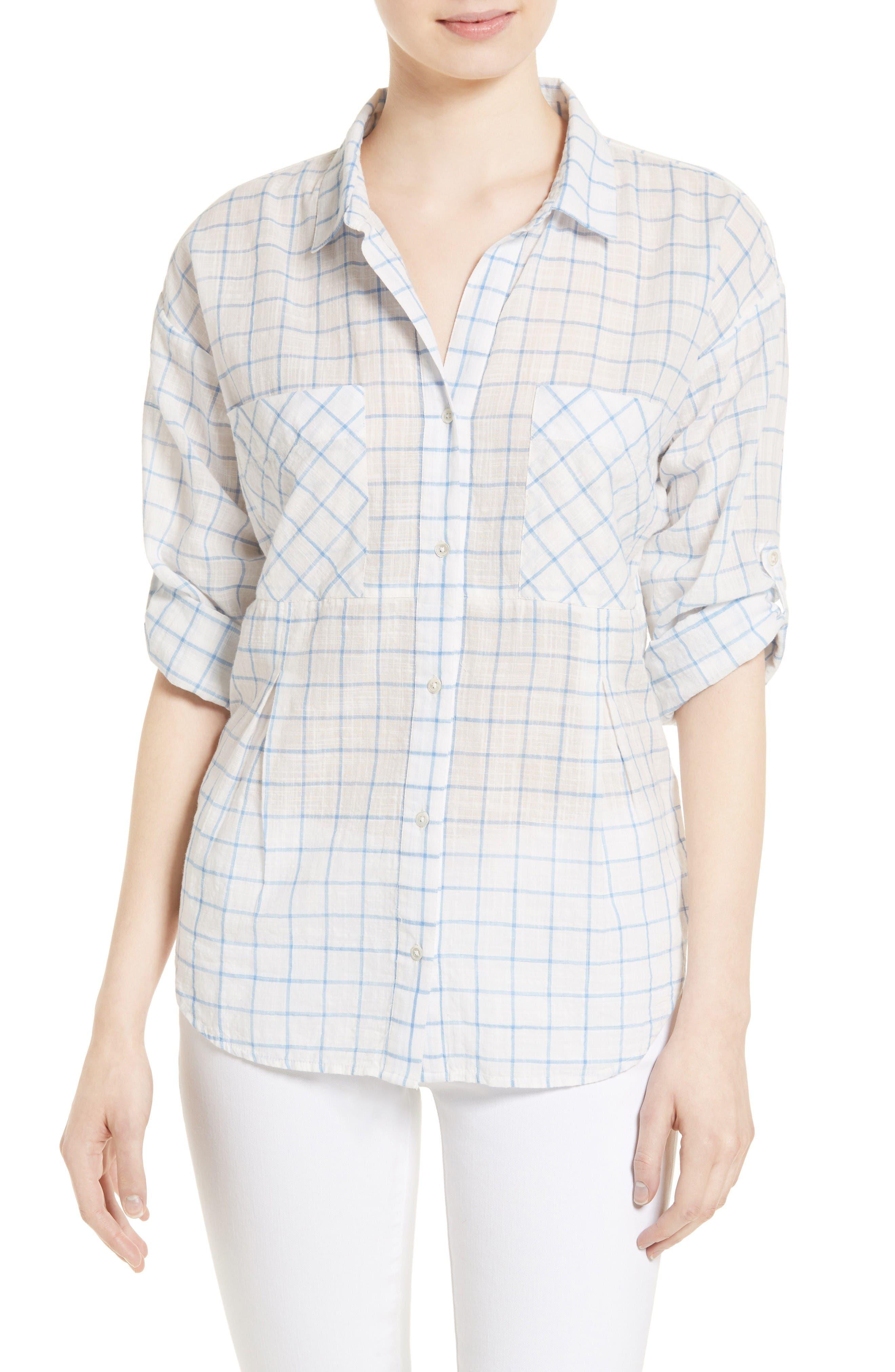 Soft Joie Adabelle Check Cotton Shirt