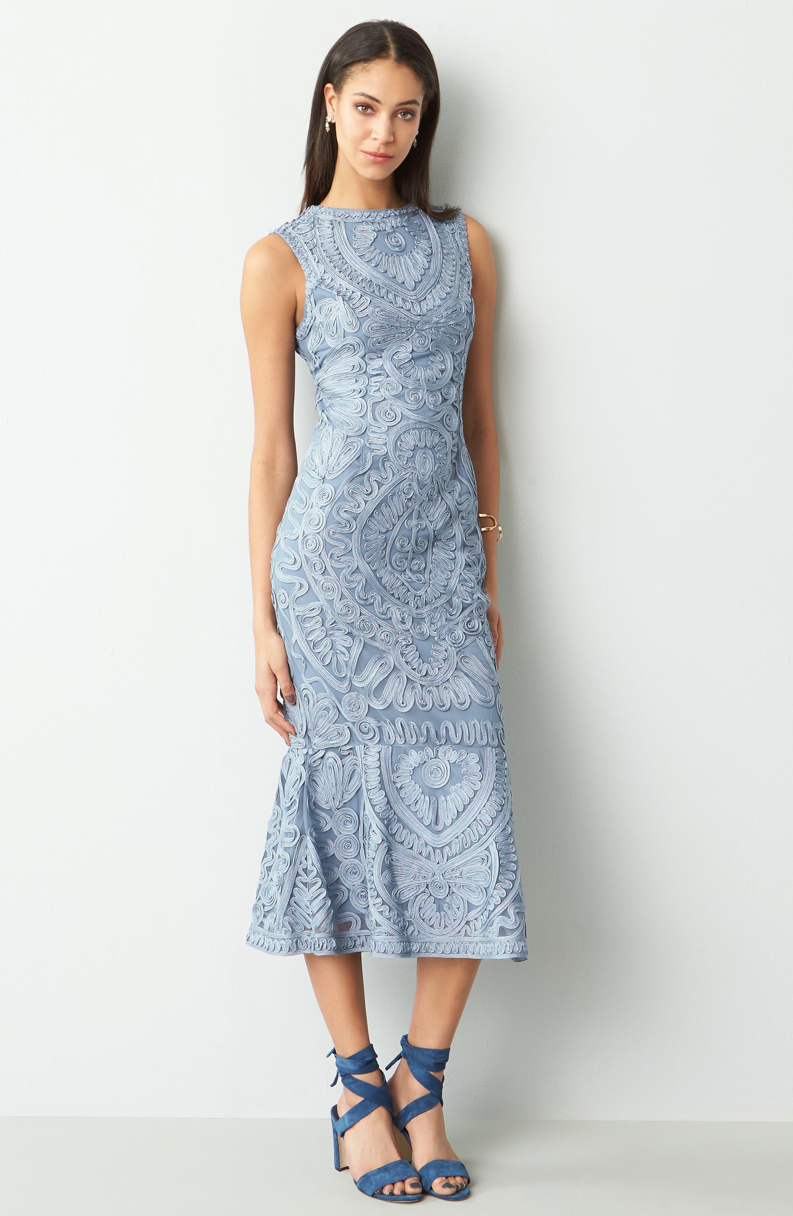Alternate Image 2  - JS Collections Soutache Mesh Dress