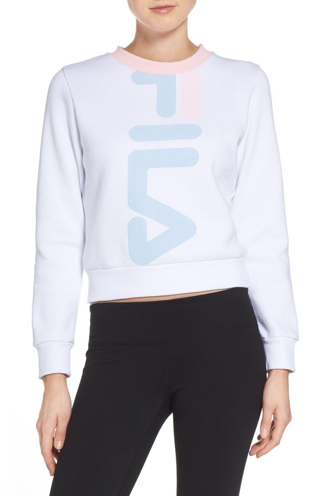 FILA Mona Logo Crop Sweatshirt