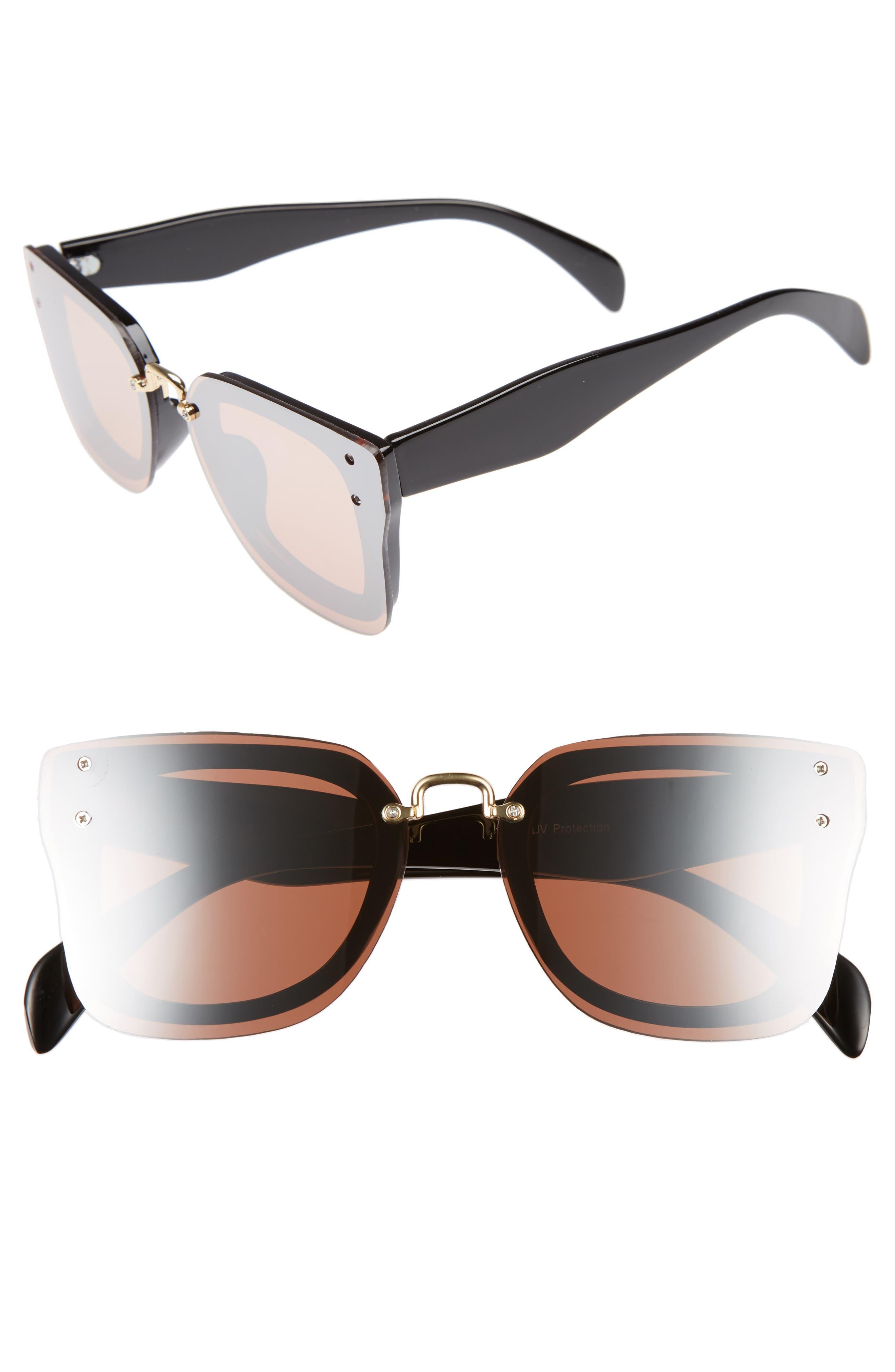 Main Image - BP. 48mm Cat Eye Shield Sunglasses