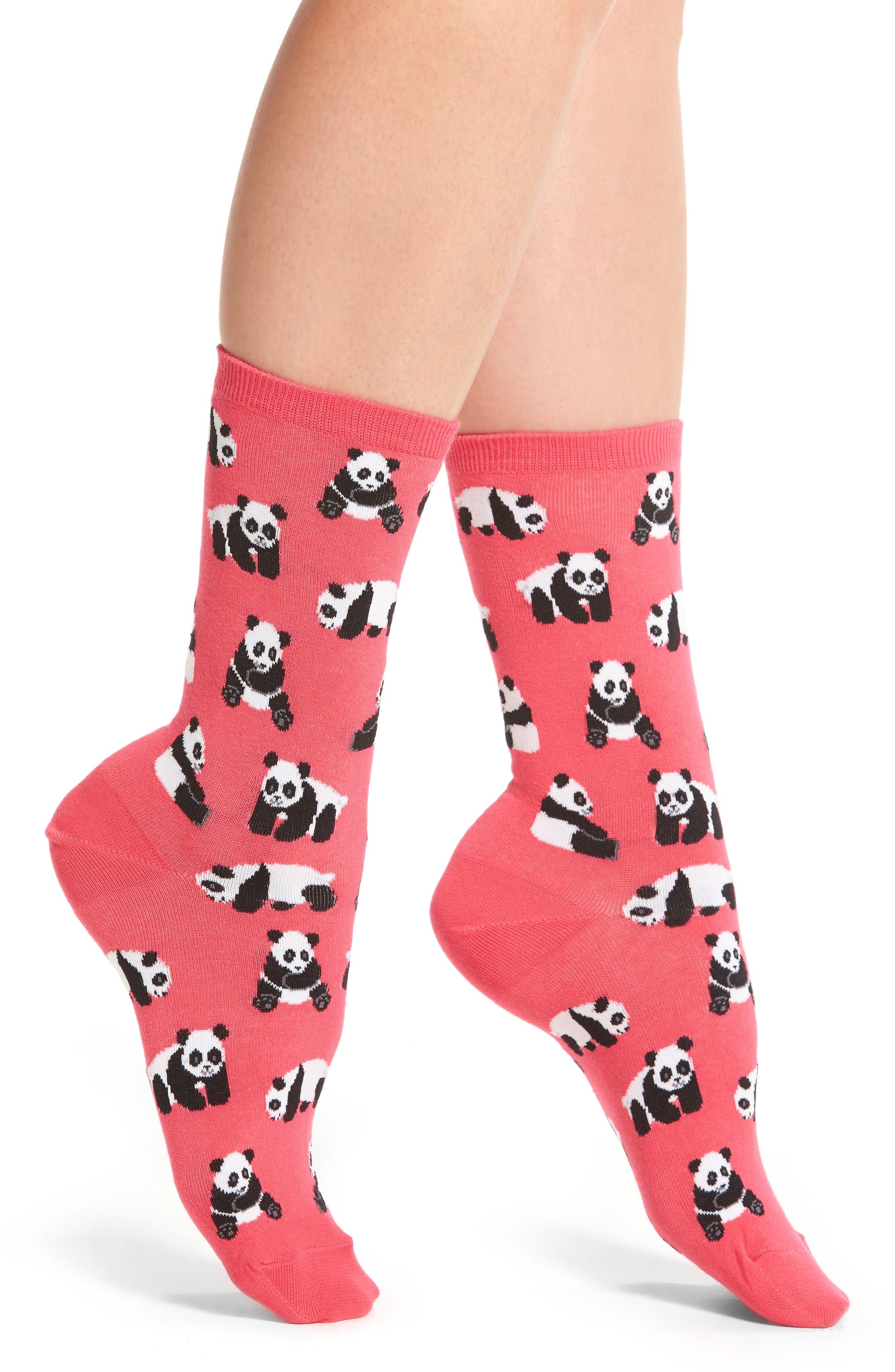 Hot Sox Panda Bears Crew Socks