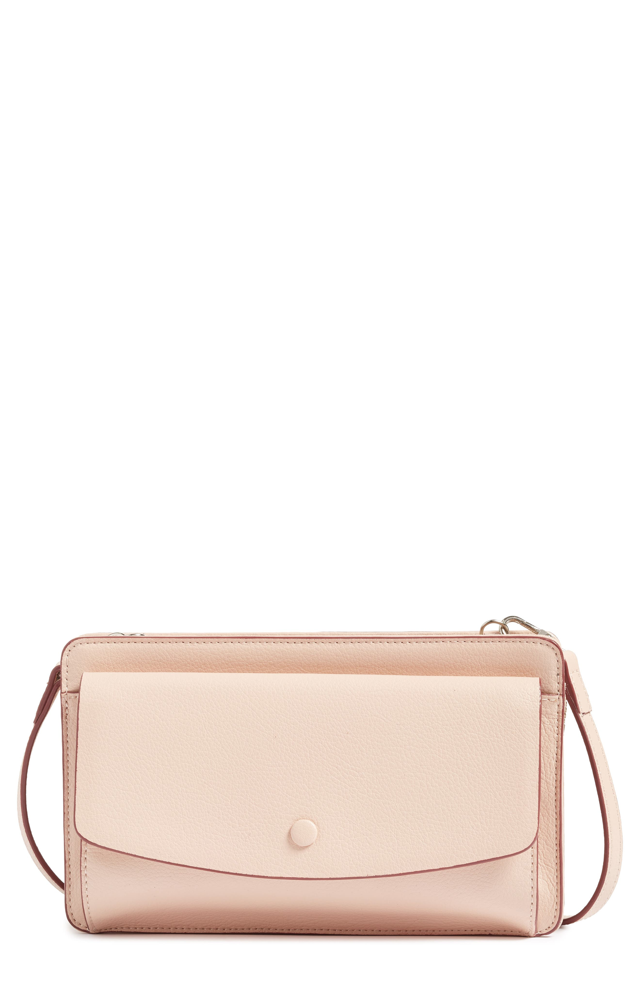 Halogen® Convertible Leather Crossbody Bag