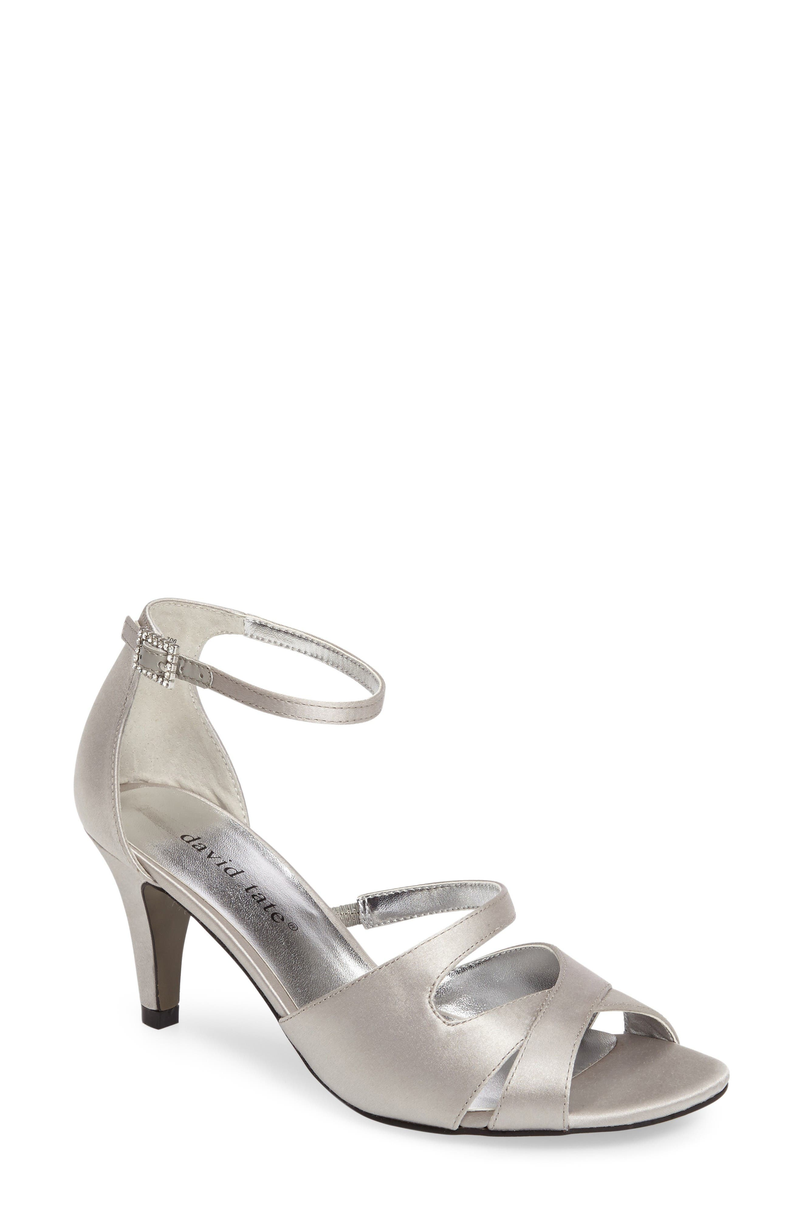 David Tate Gaze Crystal Buckle Sandal (Women)