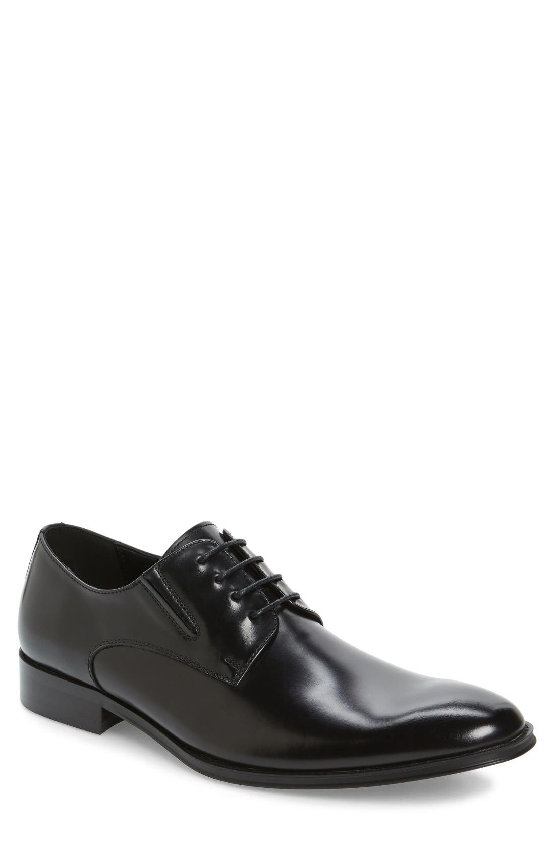 Reaction Kenneth Cole Get Even Plain Toe Derby (Men)