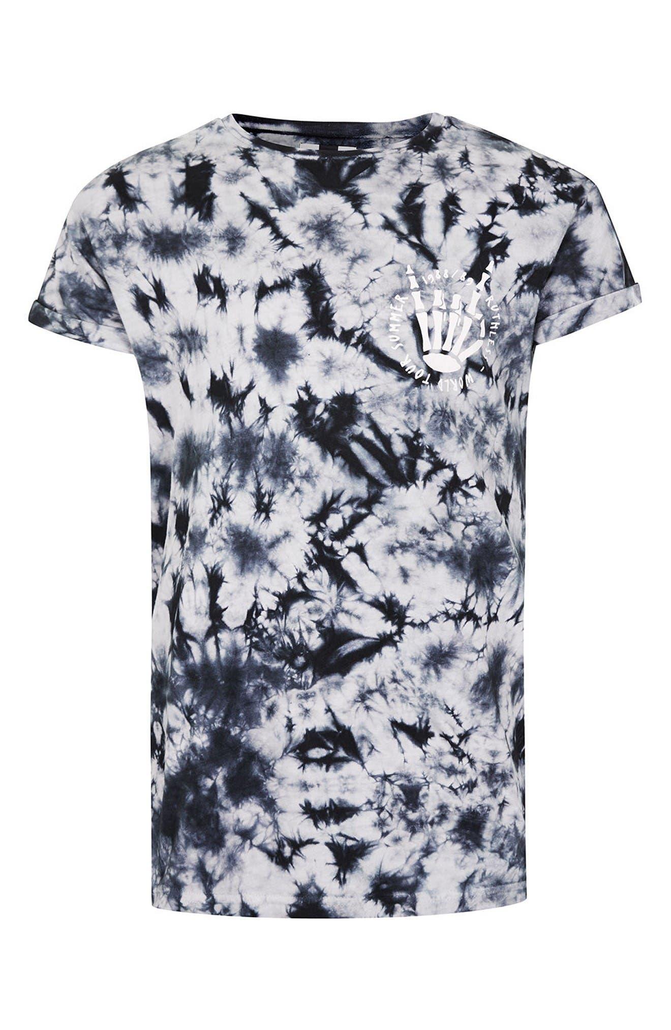 Alternate Image 5  - Topman Ruthless Graphic Tie Dye T-Shirt