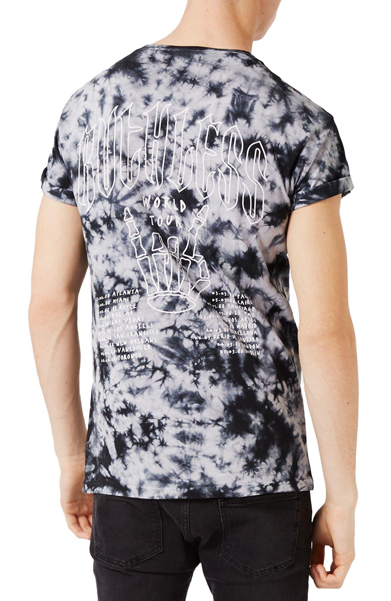 Alternate Image 3  - Topman Ruthless Graphic Tie Dye T-Shirt