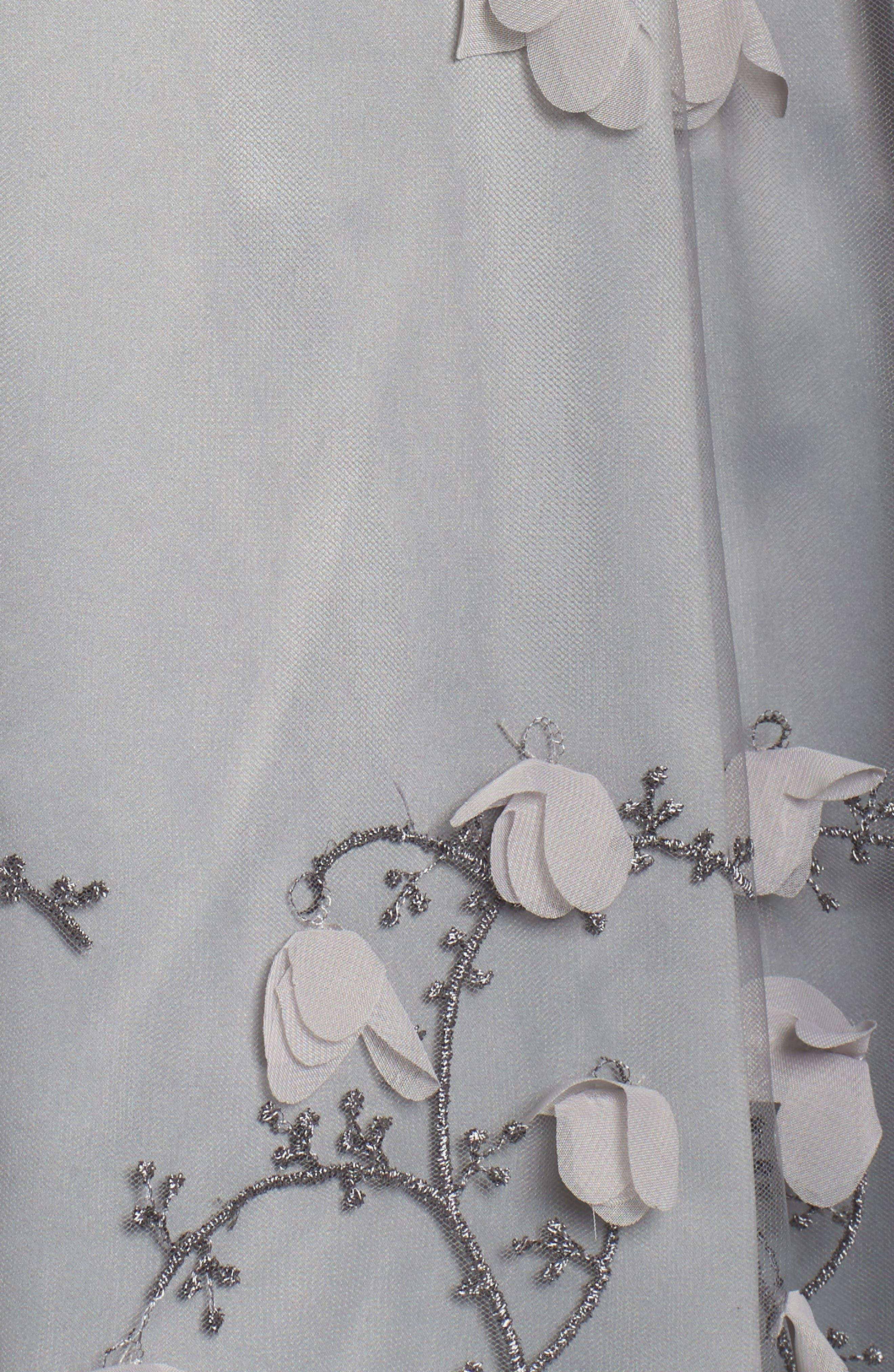 Alternate Image 6  - Eliza J Floral Appliqué Ball Skirt