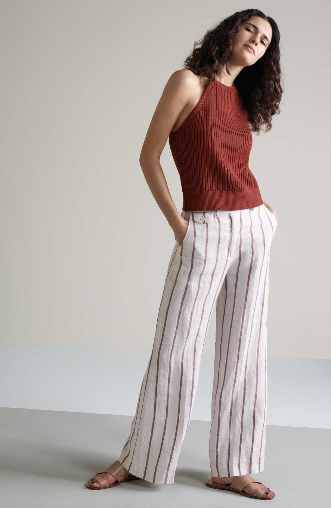 Theory Sweater & Pants Outfit with Accessories