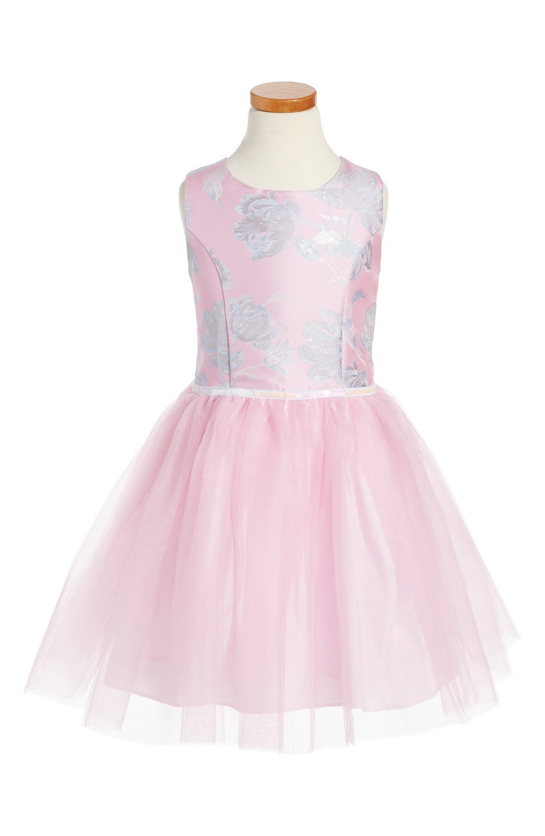 PIPPA & JULIE Floral Brocade Ballerina Dress