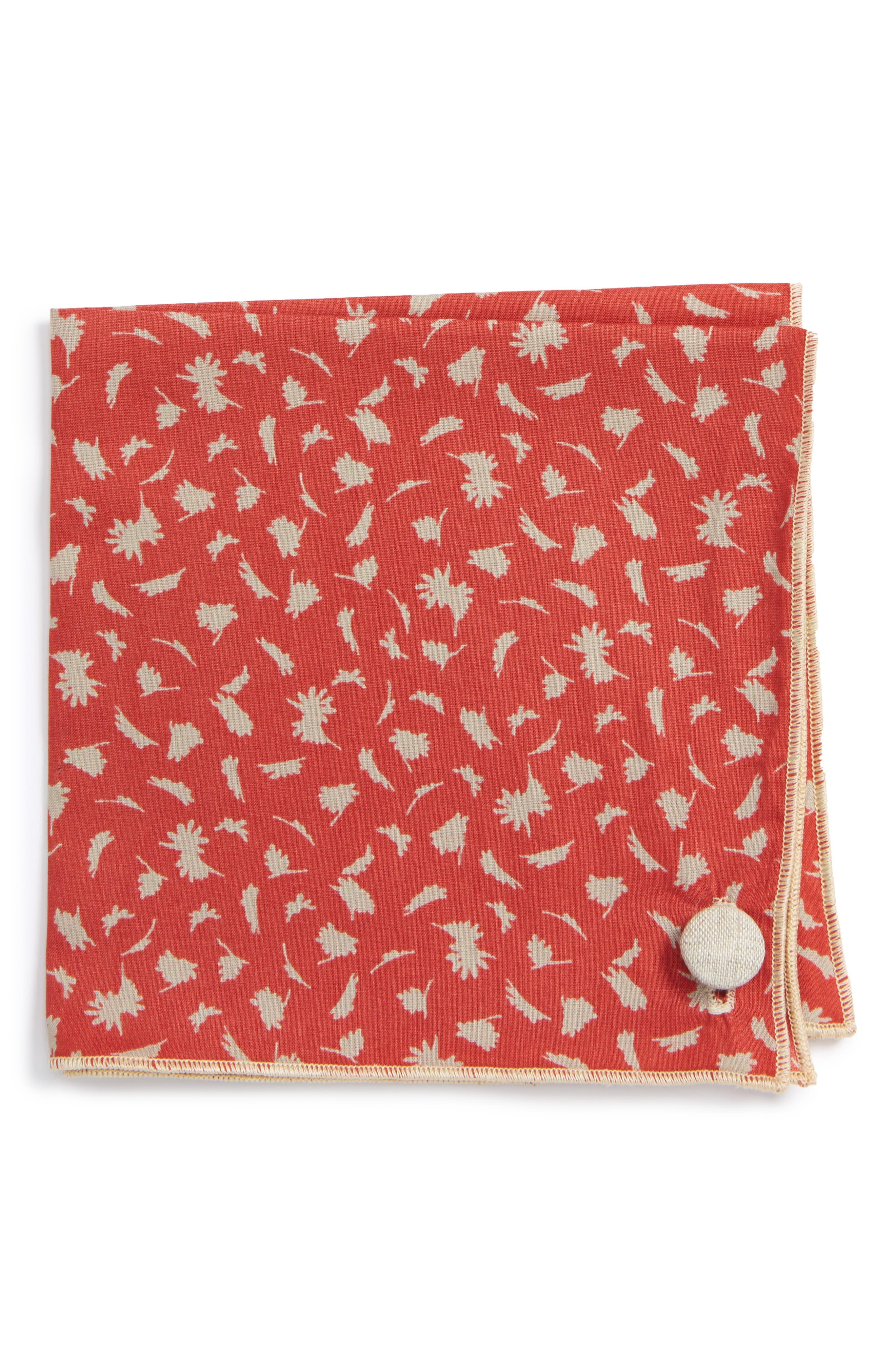 Armstrong & Wilson Pale Flowers Cotton Pocket Square