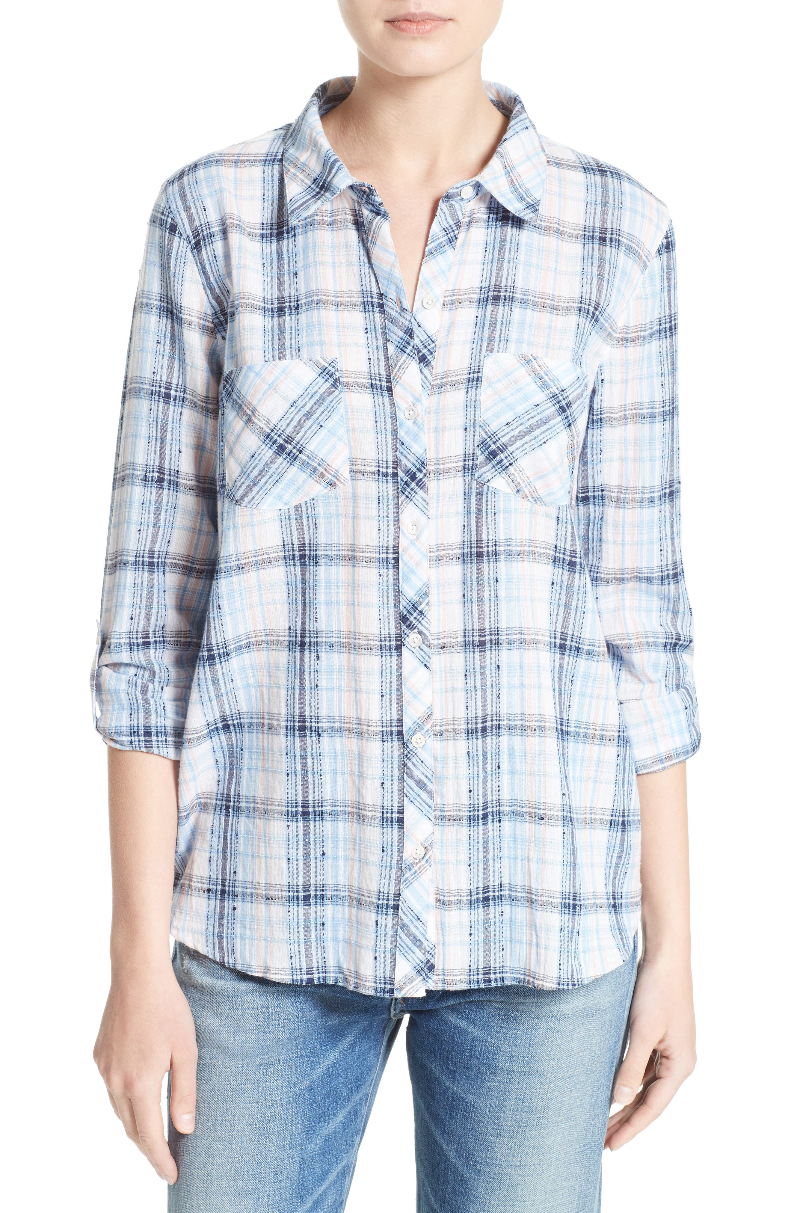 Soft Joie Lilya Plaid Blouse