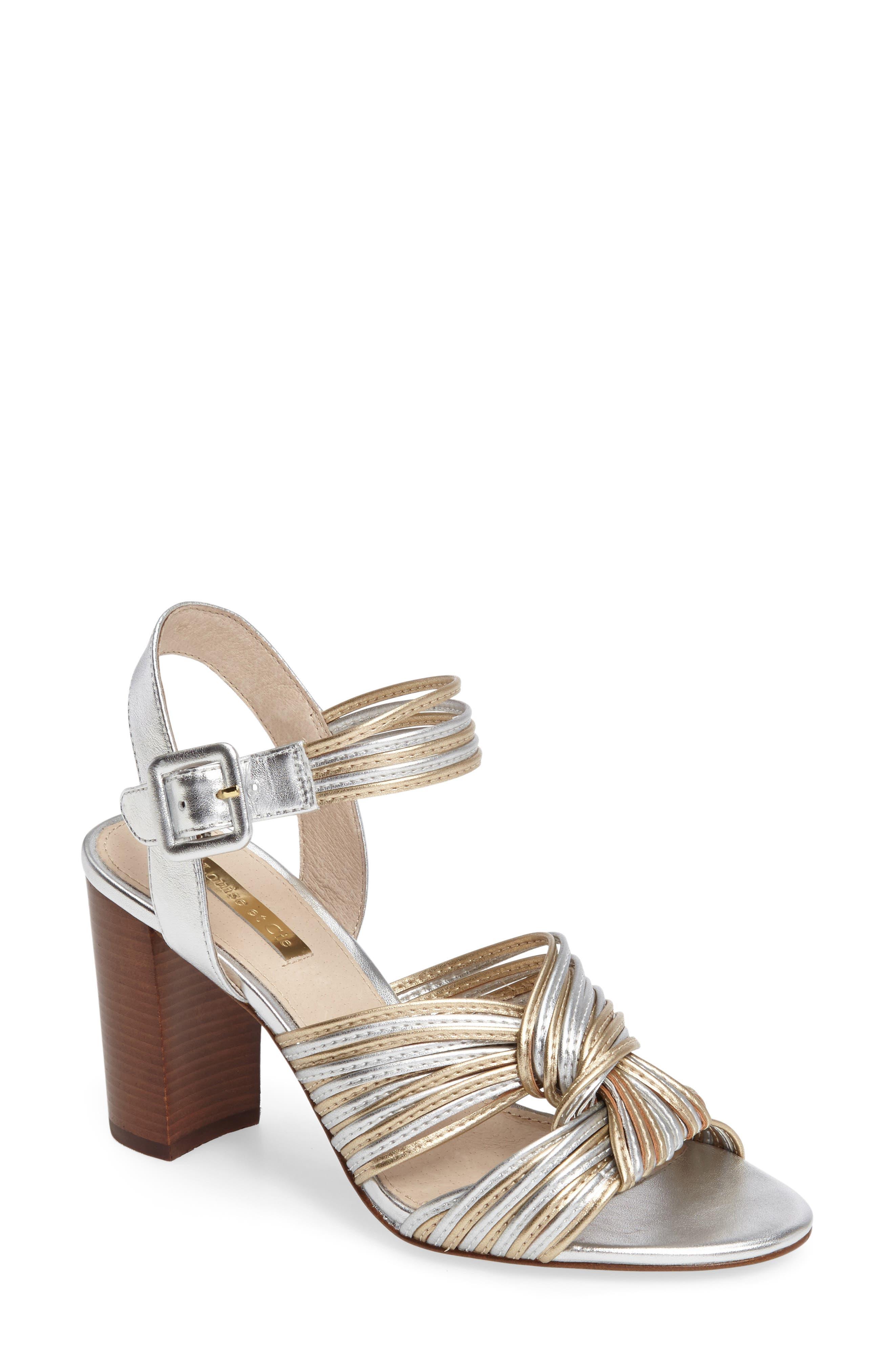 Louise et Cie Kamden Knotted Block Heel Sandal (Women)