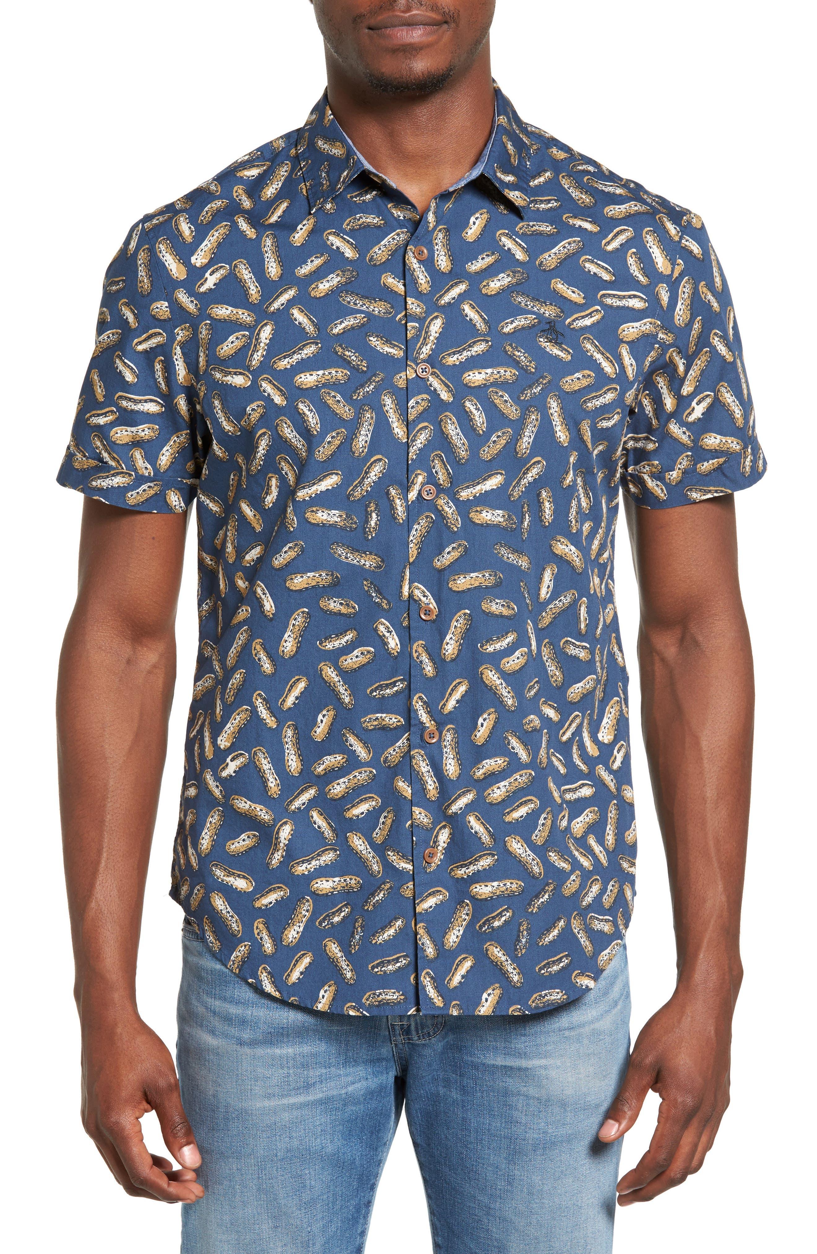 ORIGINAL PENGUIN Peanut Print Shirt
