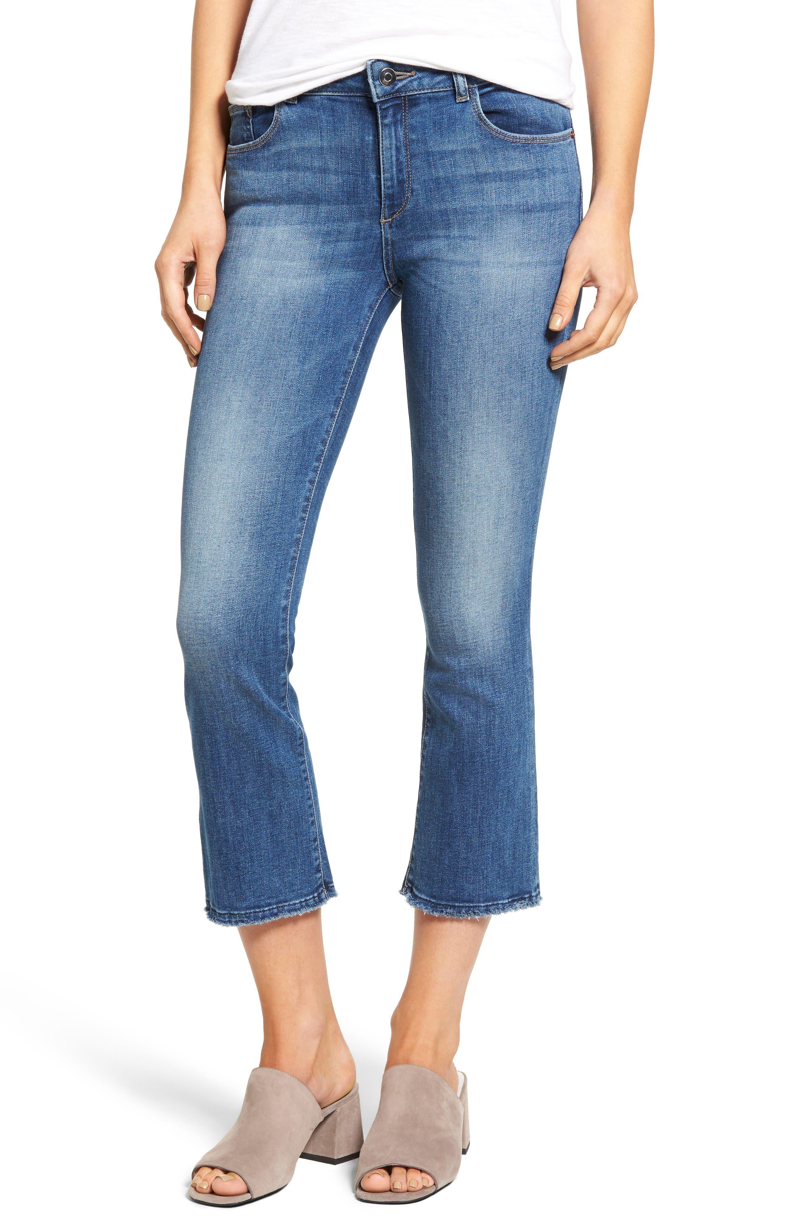 DL1961 Lara Crop Flare Jeans (Crown)